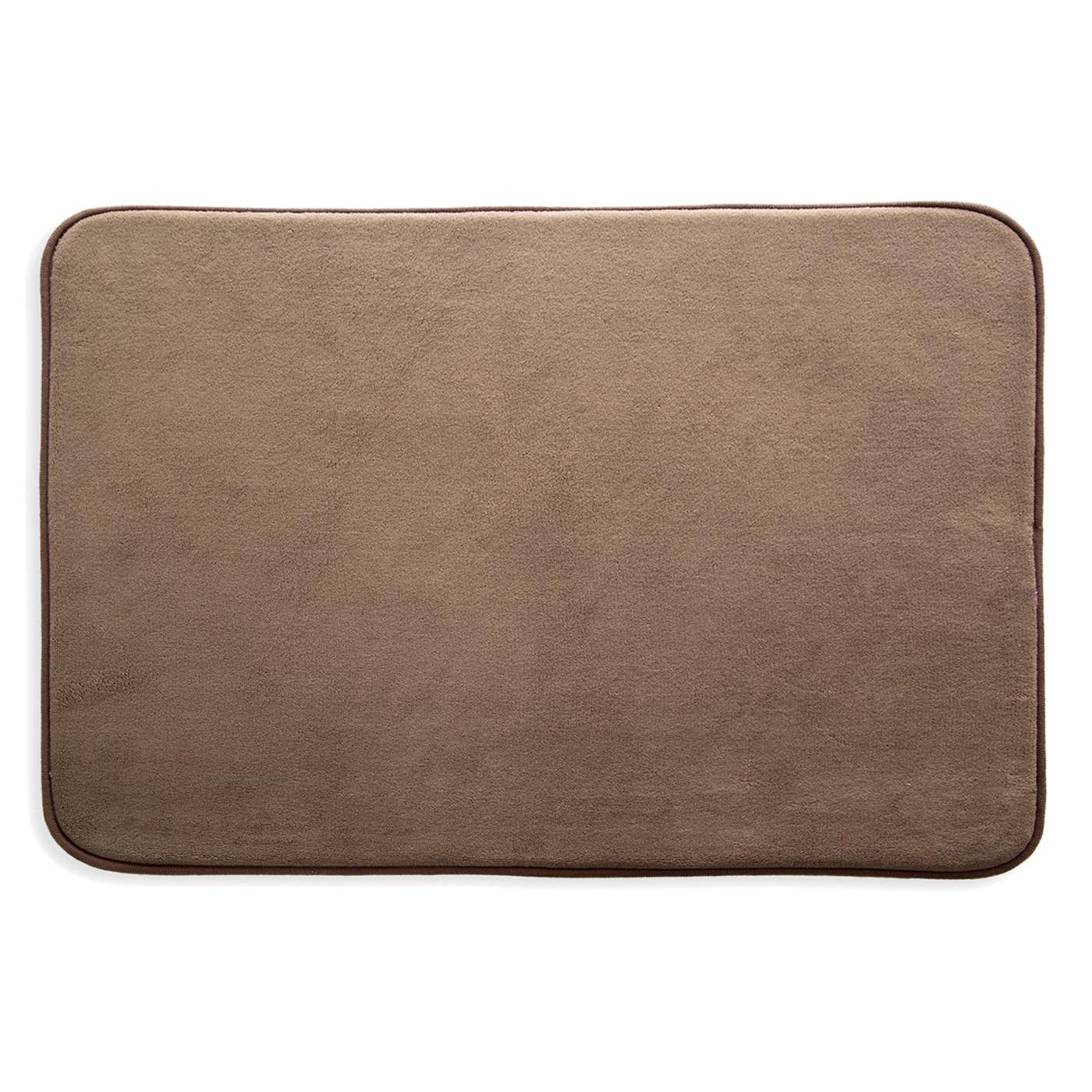 Dywanik gładki łazienkowy brązowy 60x90cm