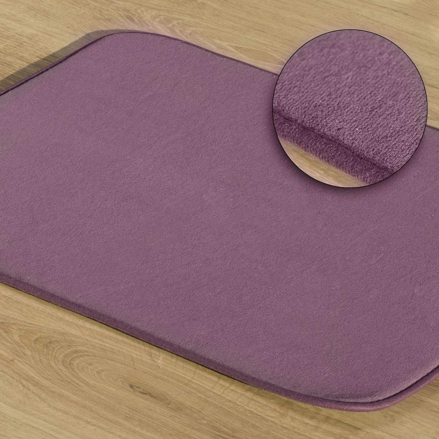 Dywanik gładki łazienkowy fioletowy 50x70cm