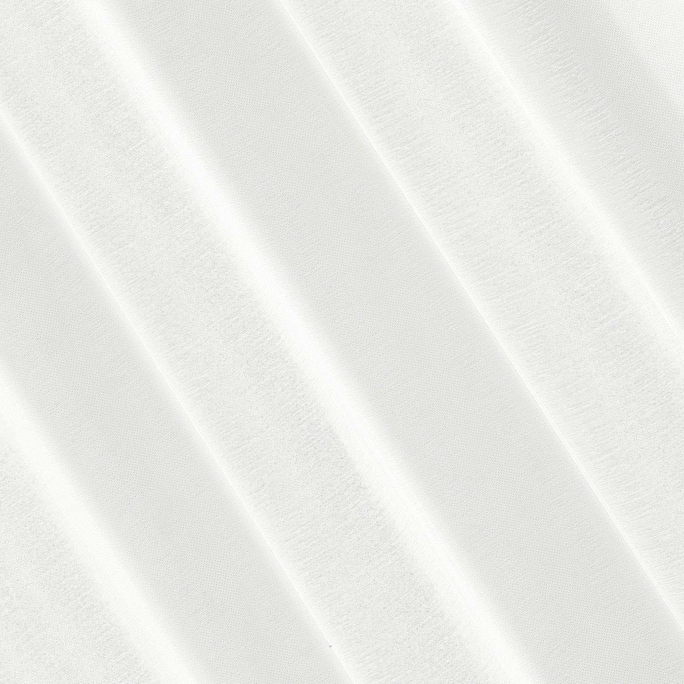 Firana kremowa 140 x 250 cm na przelotkach