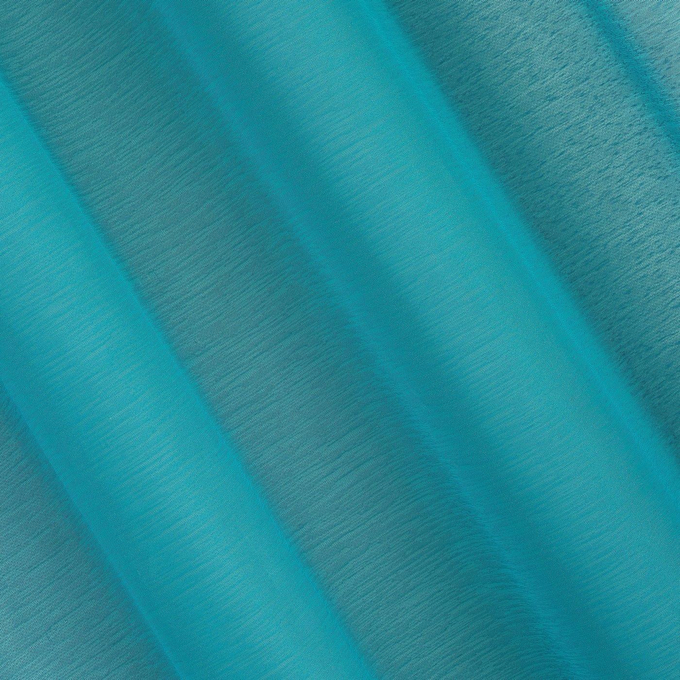 Firana turkusowa 140 x 250 cm na przelotkach