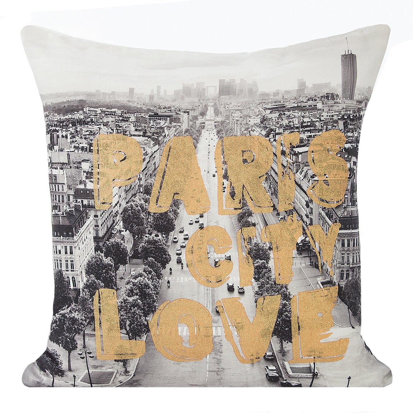 Poszewka na poduszkę paris szato złota 40 x 40 cm