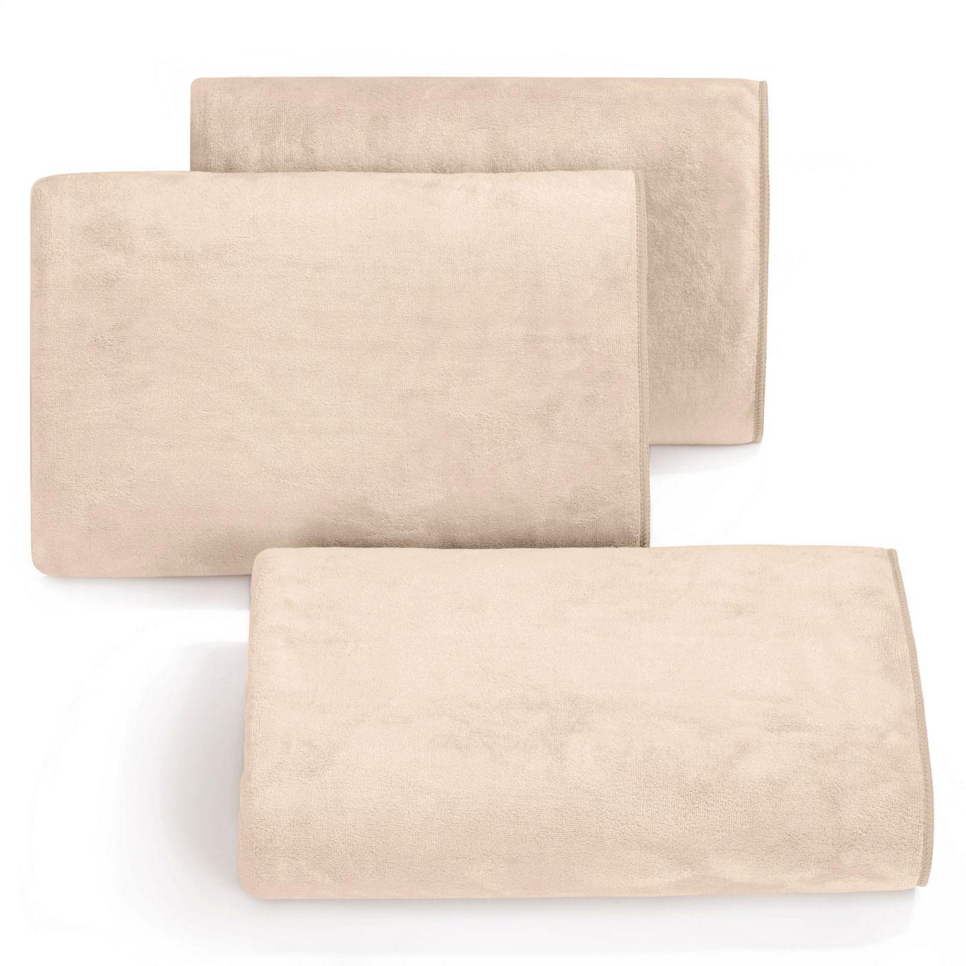 Ręcznik z mikrofibry szybkoschnący kremowy 50x90cm