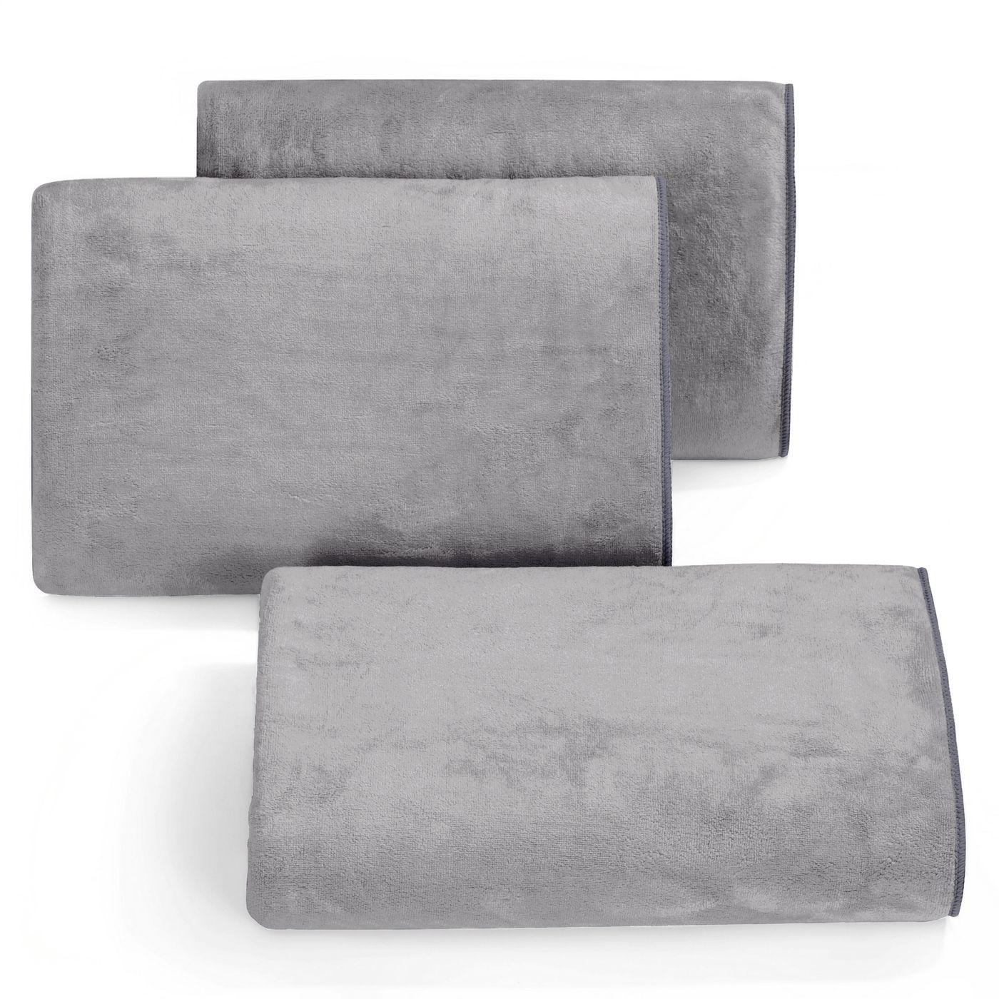 Ręcznik z mikrofibry szybkoschnący stalowy 50x90cm