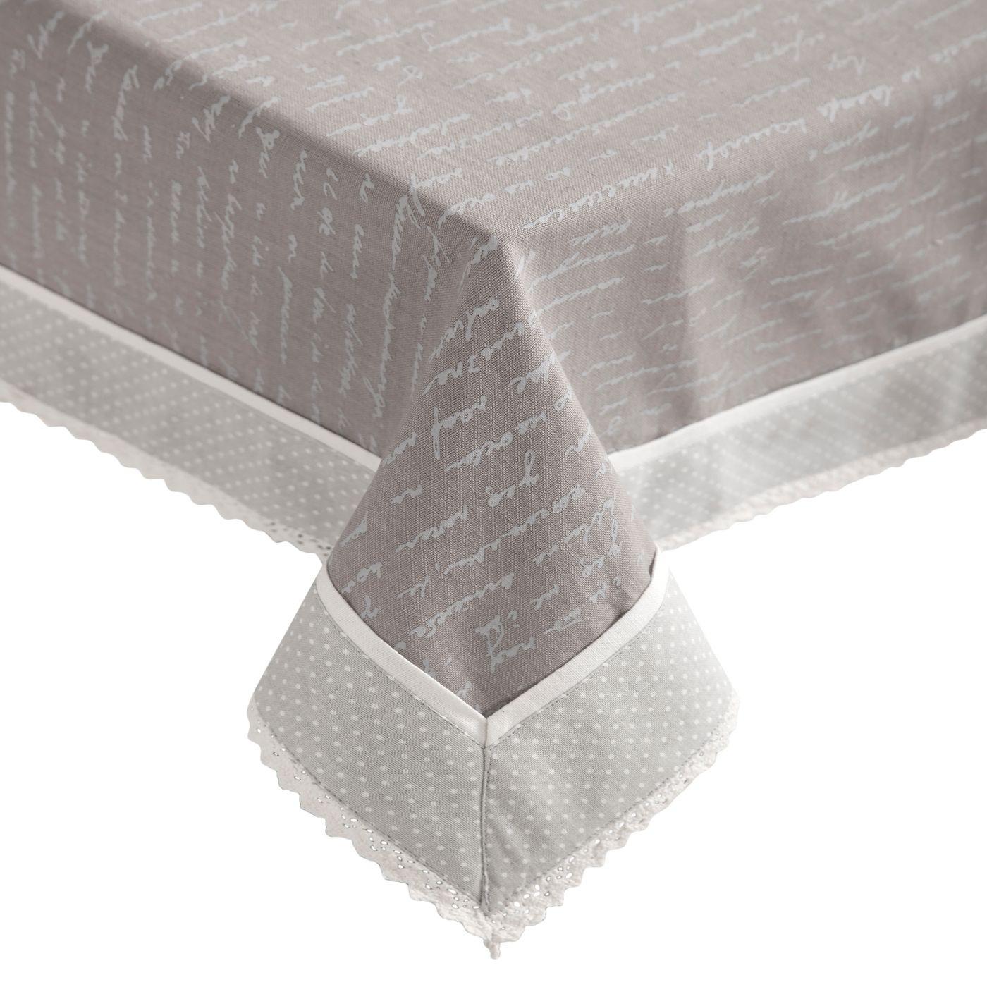 Obrus 100% bawełna stalowy 150 x 220 cm