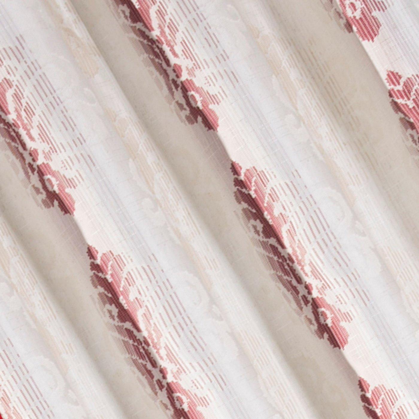 Zasłona z cieniowanymi ornamentami bordowa przelotki 140x250cm