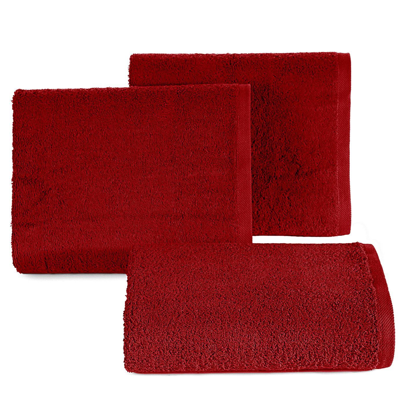 Ręcznik bawełniany gładki bordowy 50x90 cm