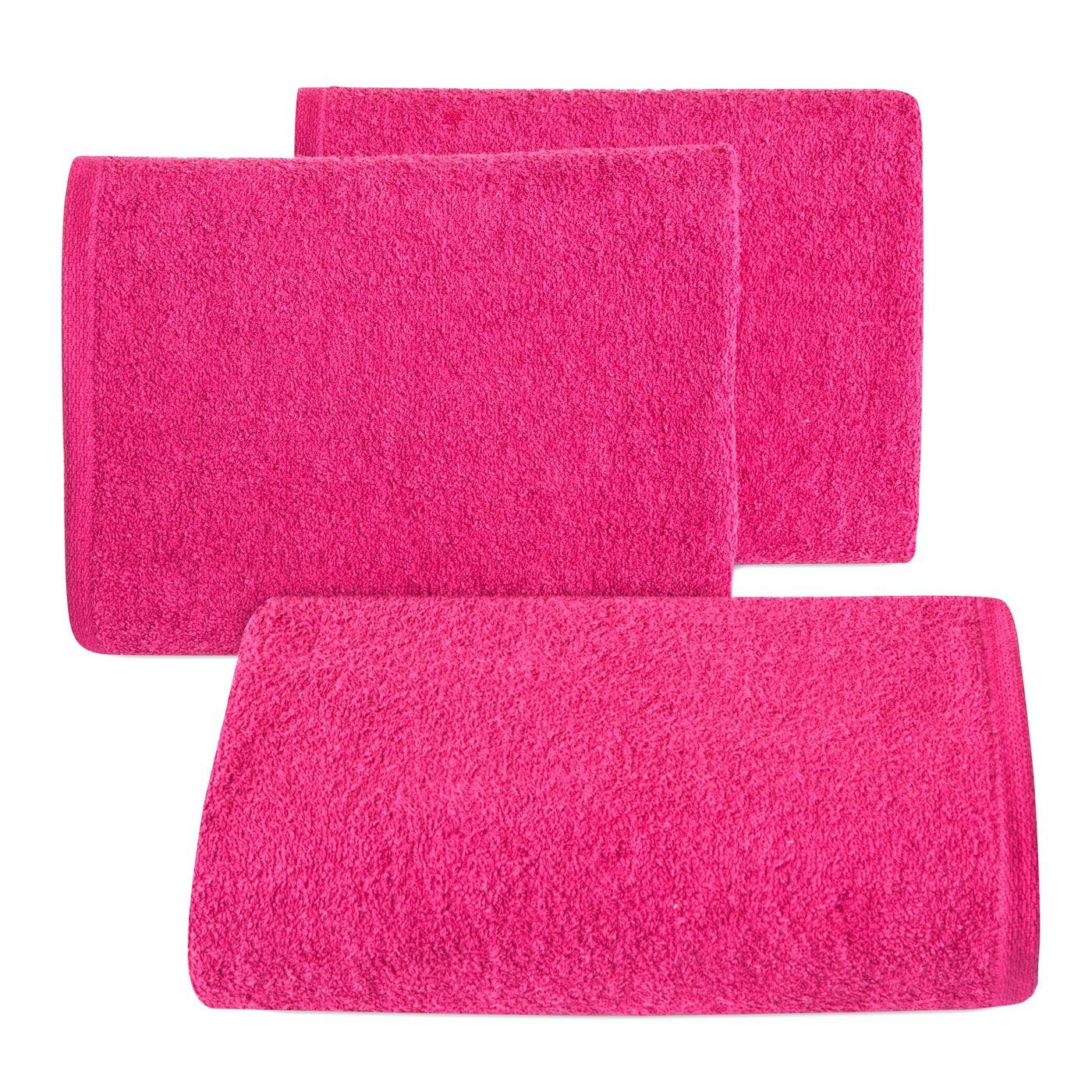 Gładki ręcznik kąpielowy amarantowy 50x90 cm