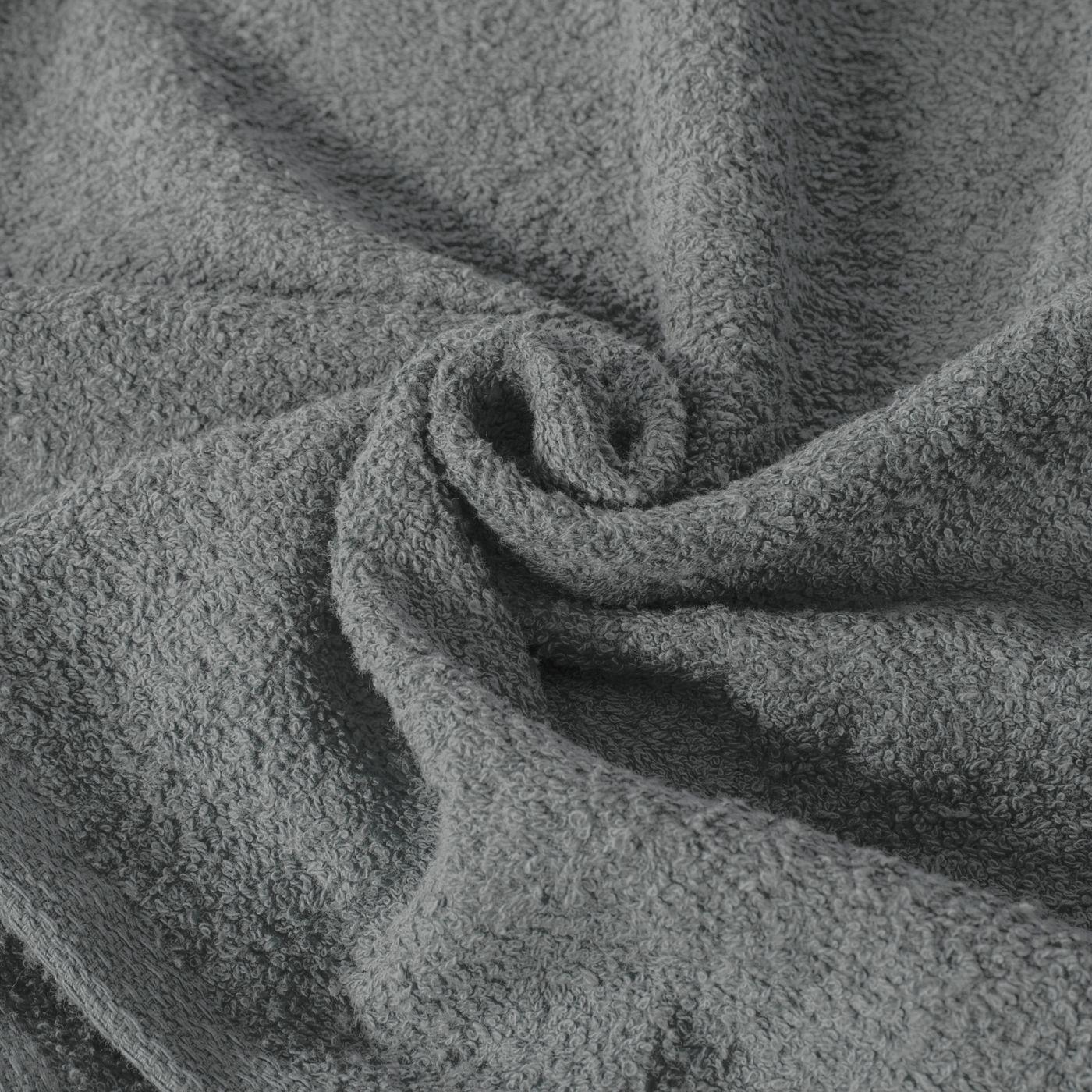 Gładki ręcznik kąpielowy stalowy szary 30x50 cm