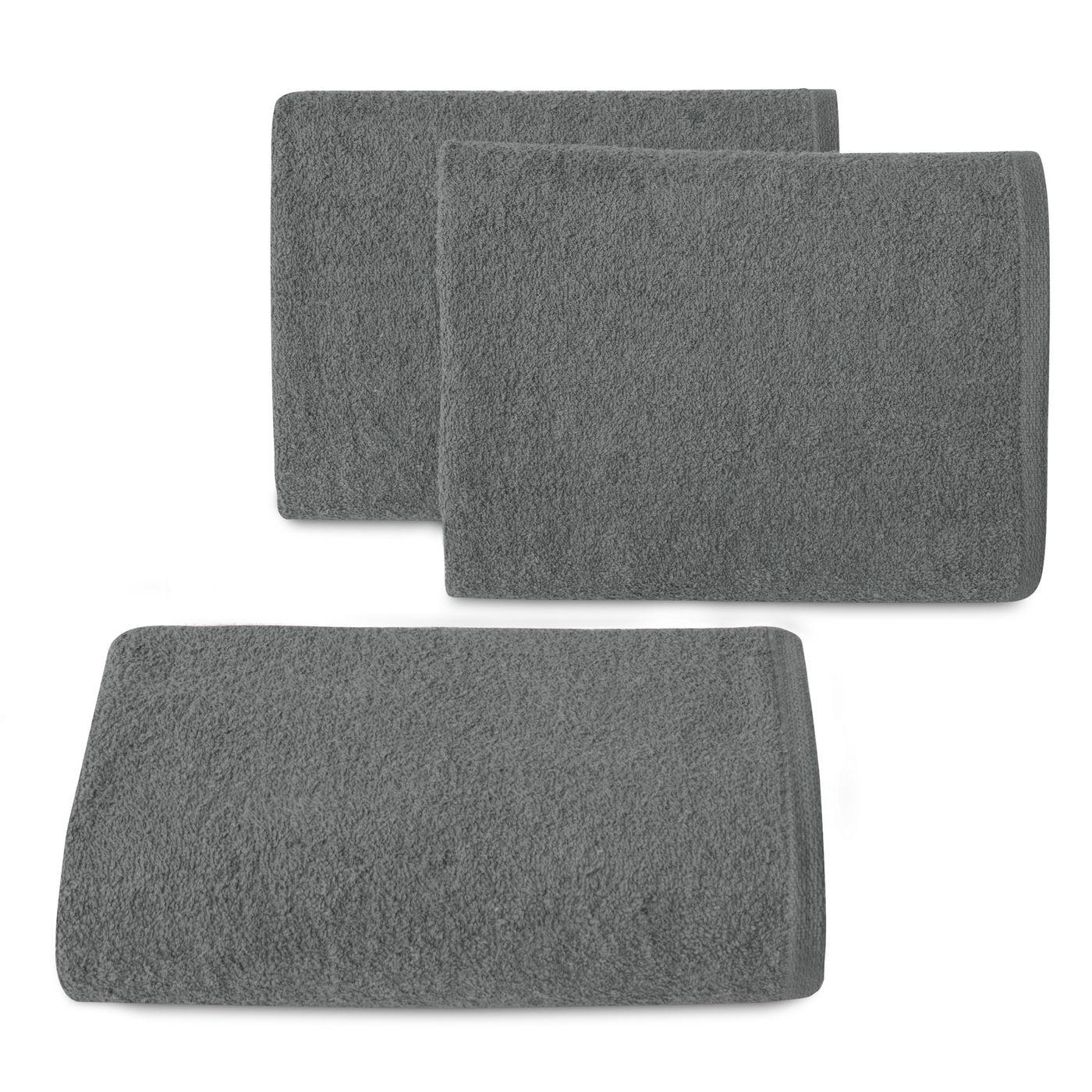 Ręcznik bawełniany gładki stalowy 50x90 cm