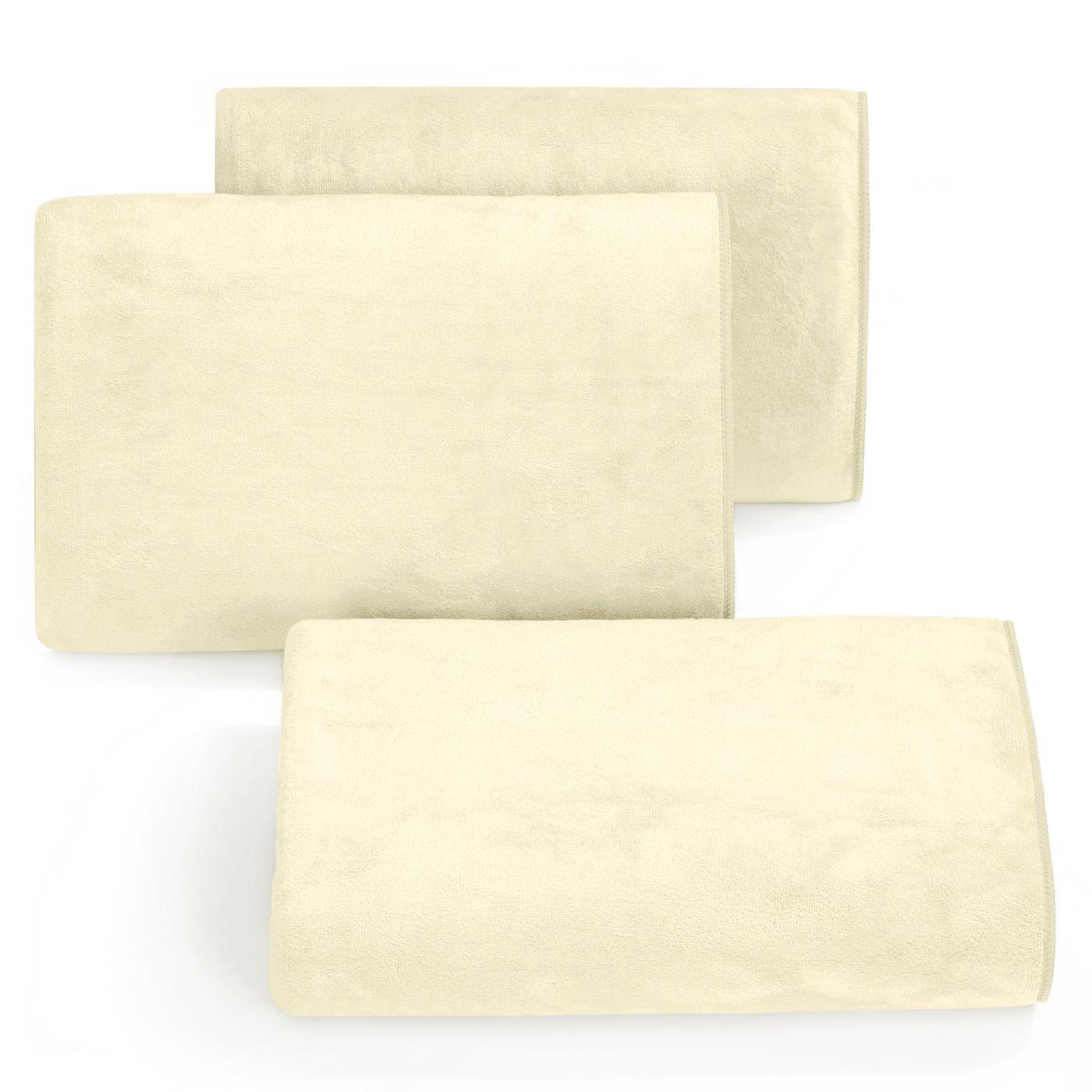 Ręcznik z mikrofibry szybkoschnący kremowy 30x50cm