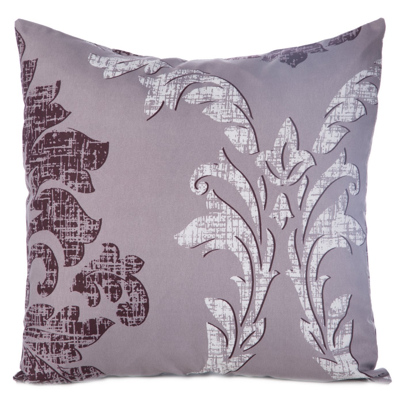 Poszewka na poduszkę biała z ornamentowym wzorem 40 x 40 cm