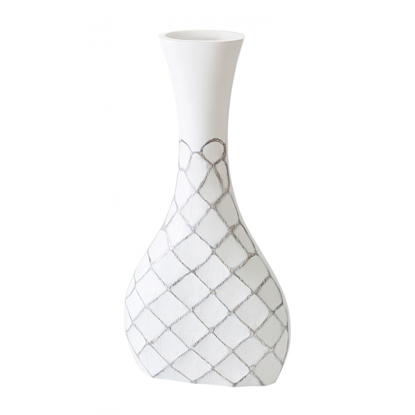 Wazon ceramiczny żłobiony z przetarciami 54 cm