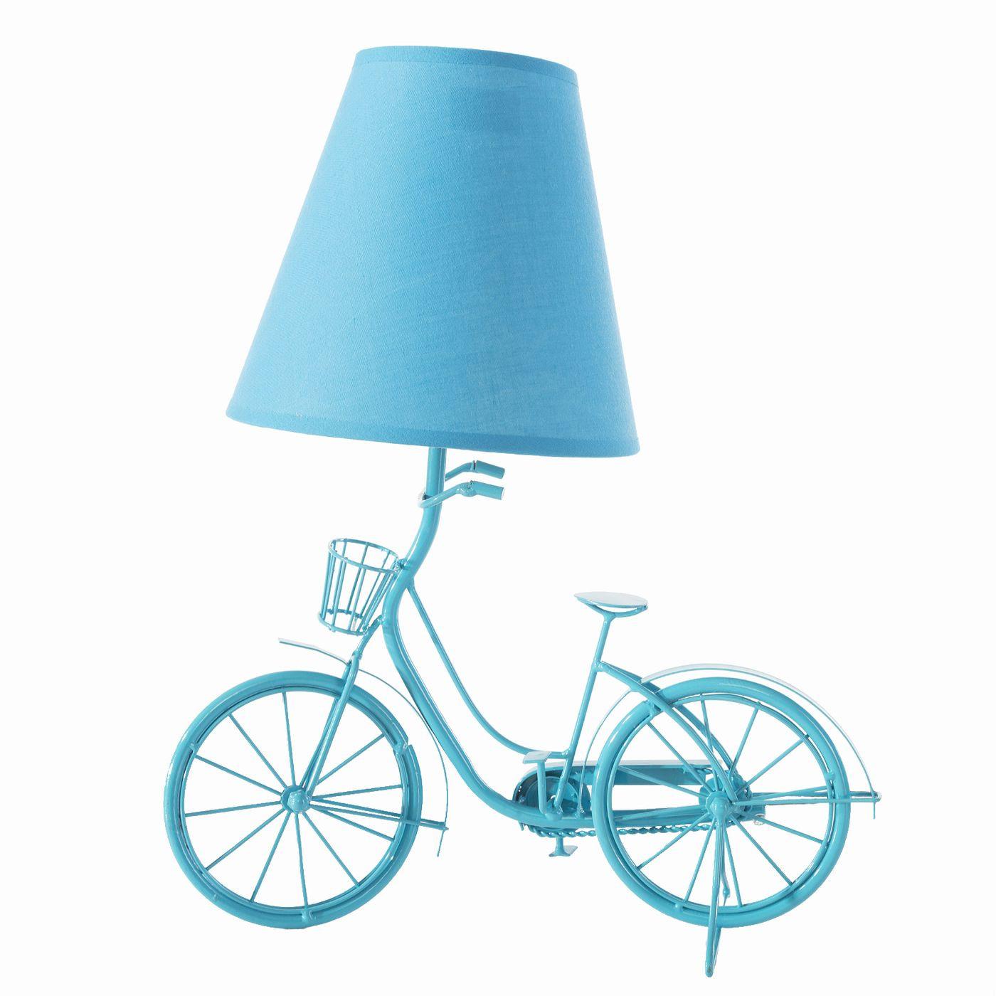 Lampa rower turkus 36 x 20 x 40 cm