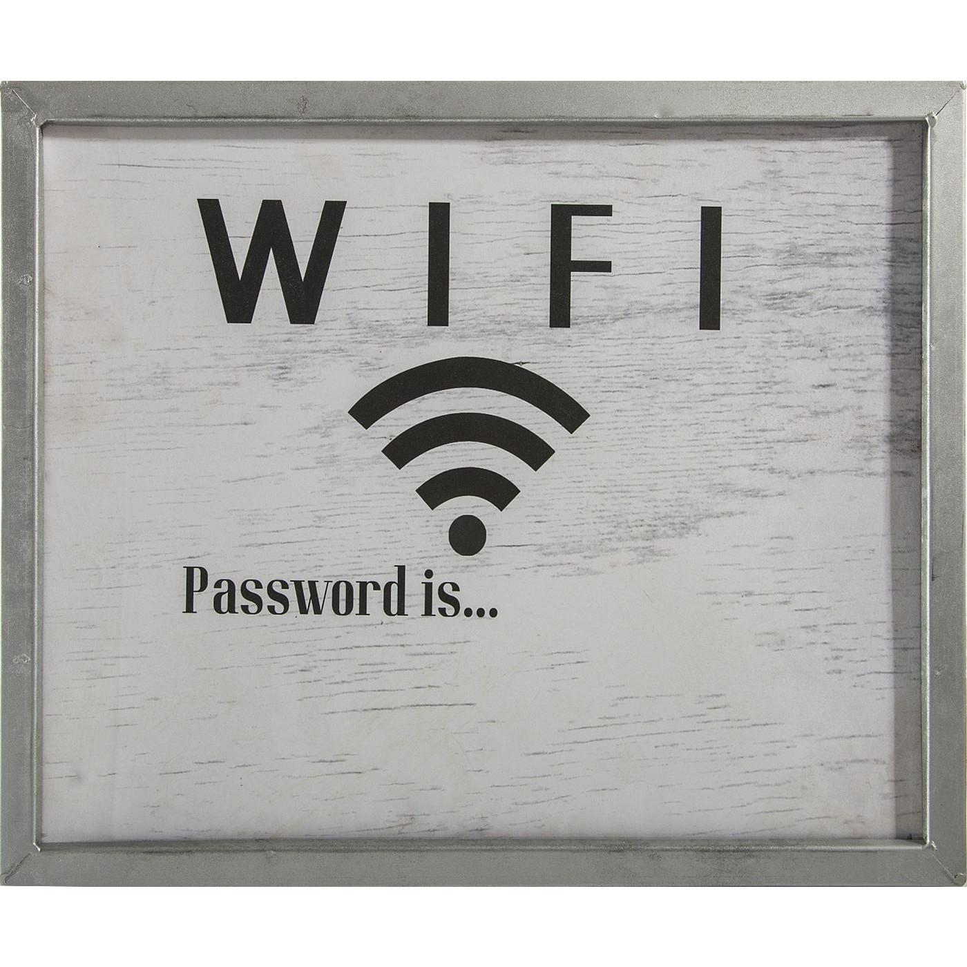Obraz wifi popielaty biały 40 x 30 x 2 cm