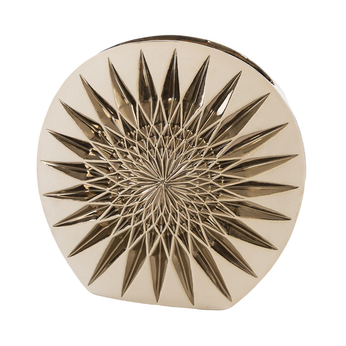 Wazon dekoracyjny porcelana stare złoto porcelana 38 cm