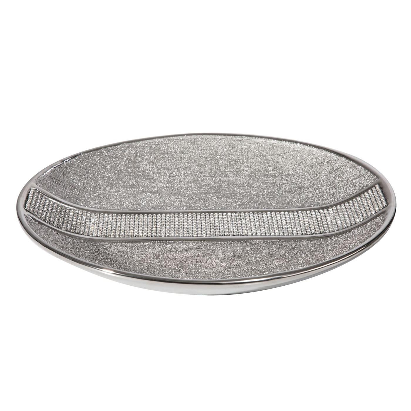 Patera ceramiczna z pasem kryształów 30 cm
