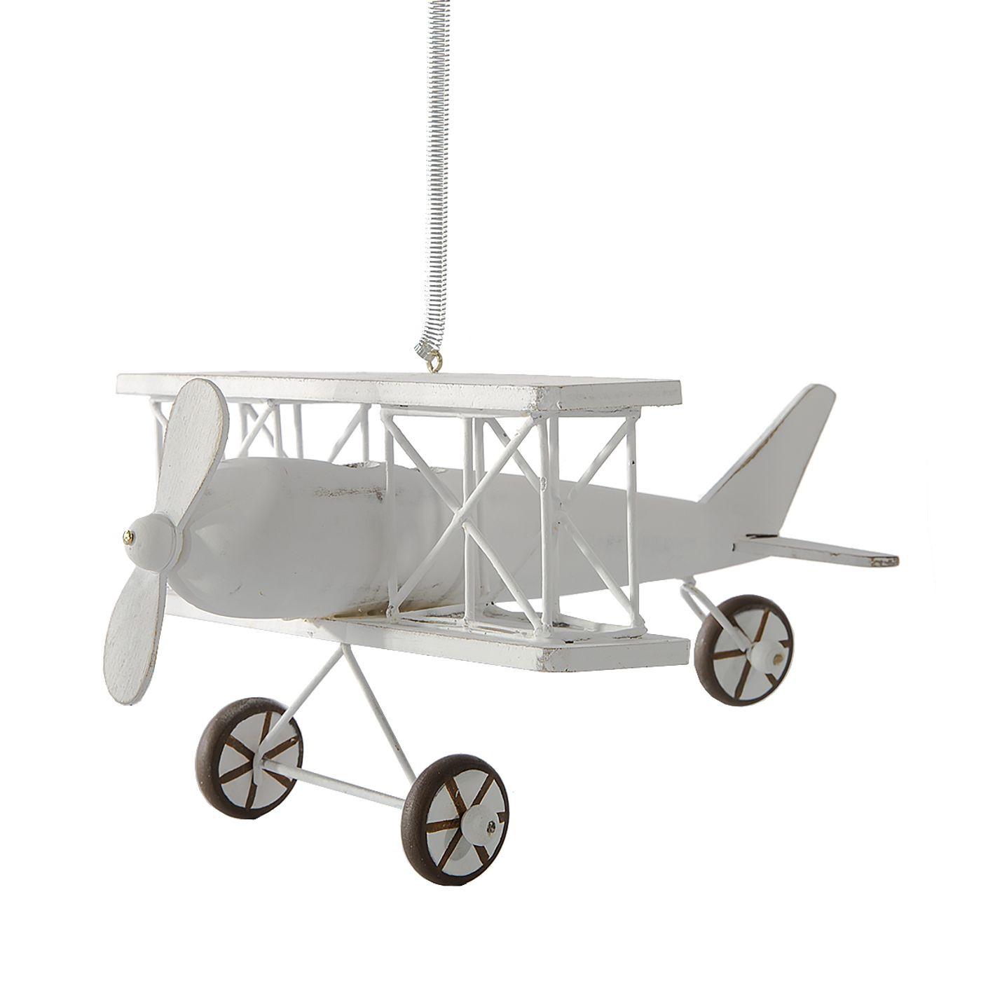 Figurka dekoracyjna samolot drewno 13 x 15 x 9 cm