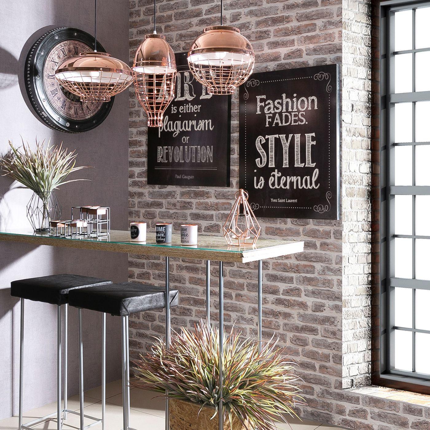 Lampa metalowa loftowa złota styl industrialny