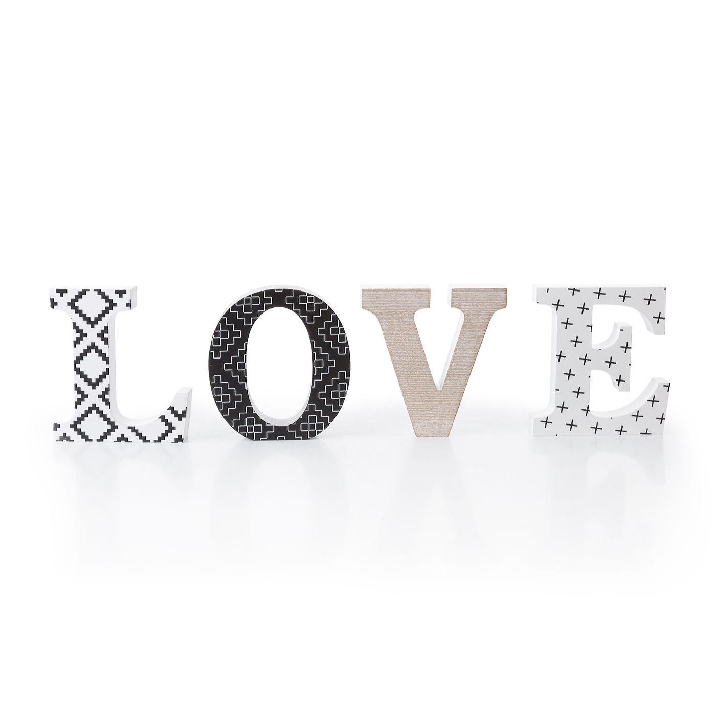 Dekoracja napis love styl młodzieżowy 12 cm