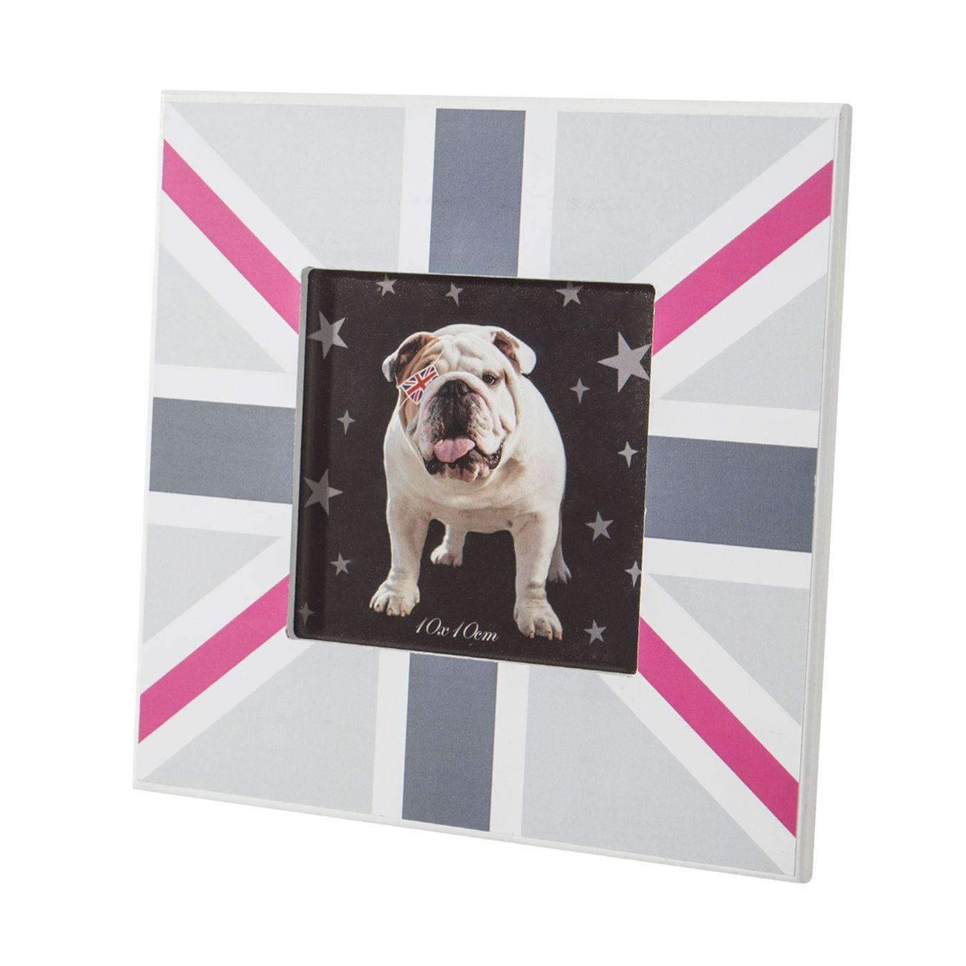 Ramka na zdjęcia z motywem brytyjskiej flagi 17 x 17 x 1 cm