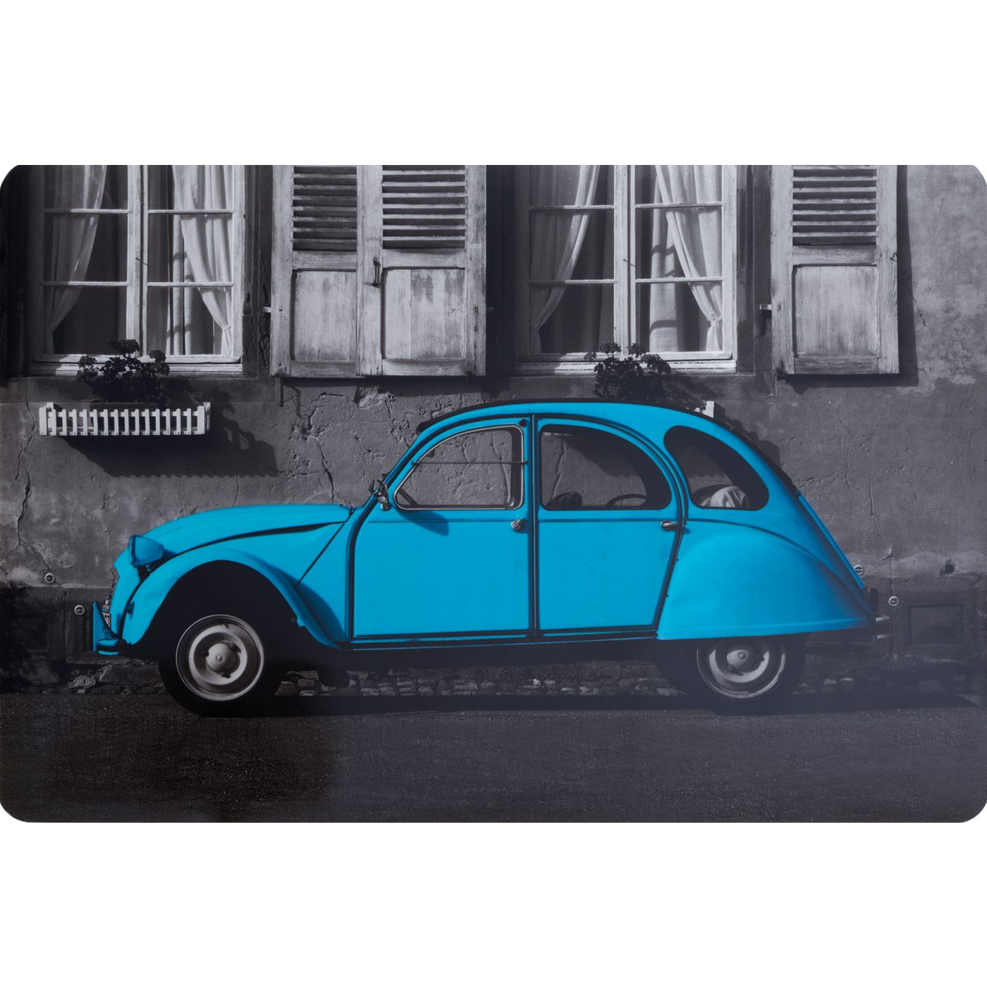 Retro car podkładka stołowa niebieska 30x43 cm