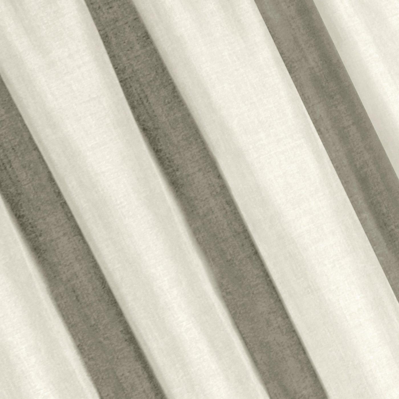 Kremowa gładka zasłona o strukturze płótna 140x270 cm przelotki