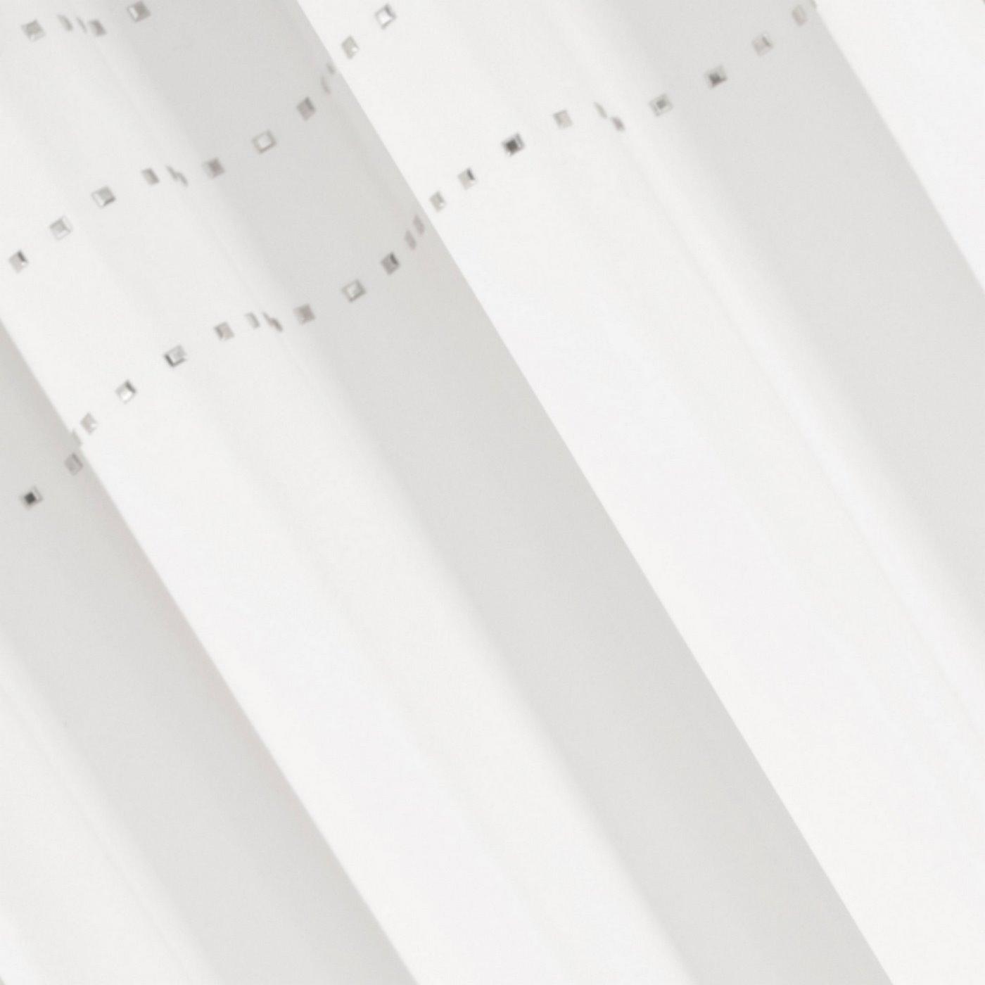 Zasłona kremowa z połyskującą aplikacją na przelotkach 140 x 250 cm