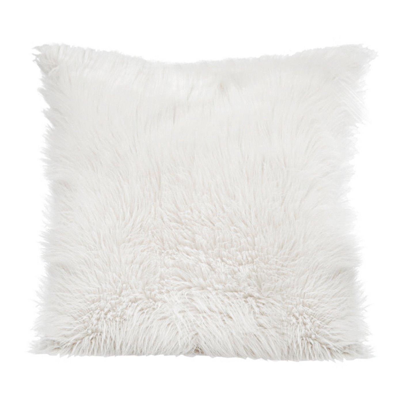 Poszewka z miękkiego futerka 45x45cm biały