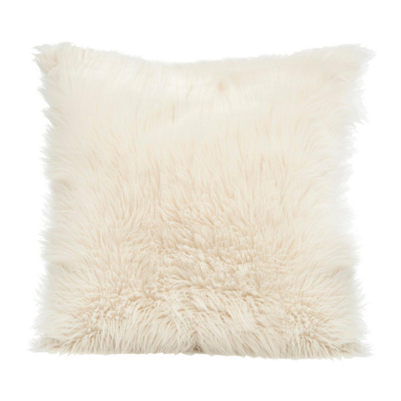 Poszewka na poduszkę miękkie futerko 45 x 45 cm kremowy