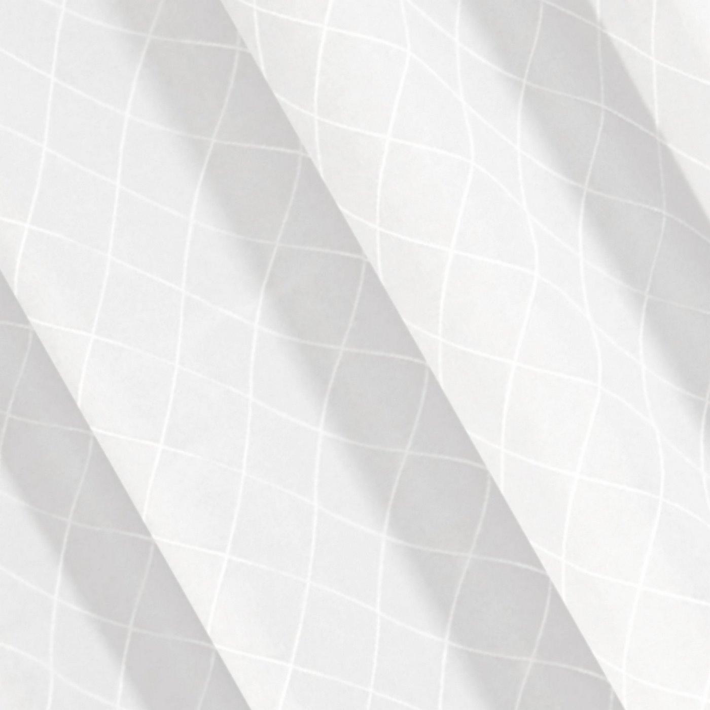 Biała zasłona z żakardu w geometryczny wzór 135x250 cm przelotki
