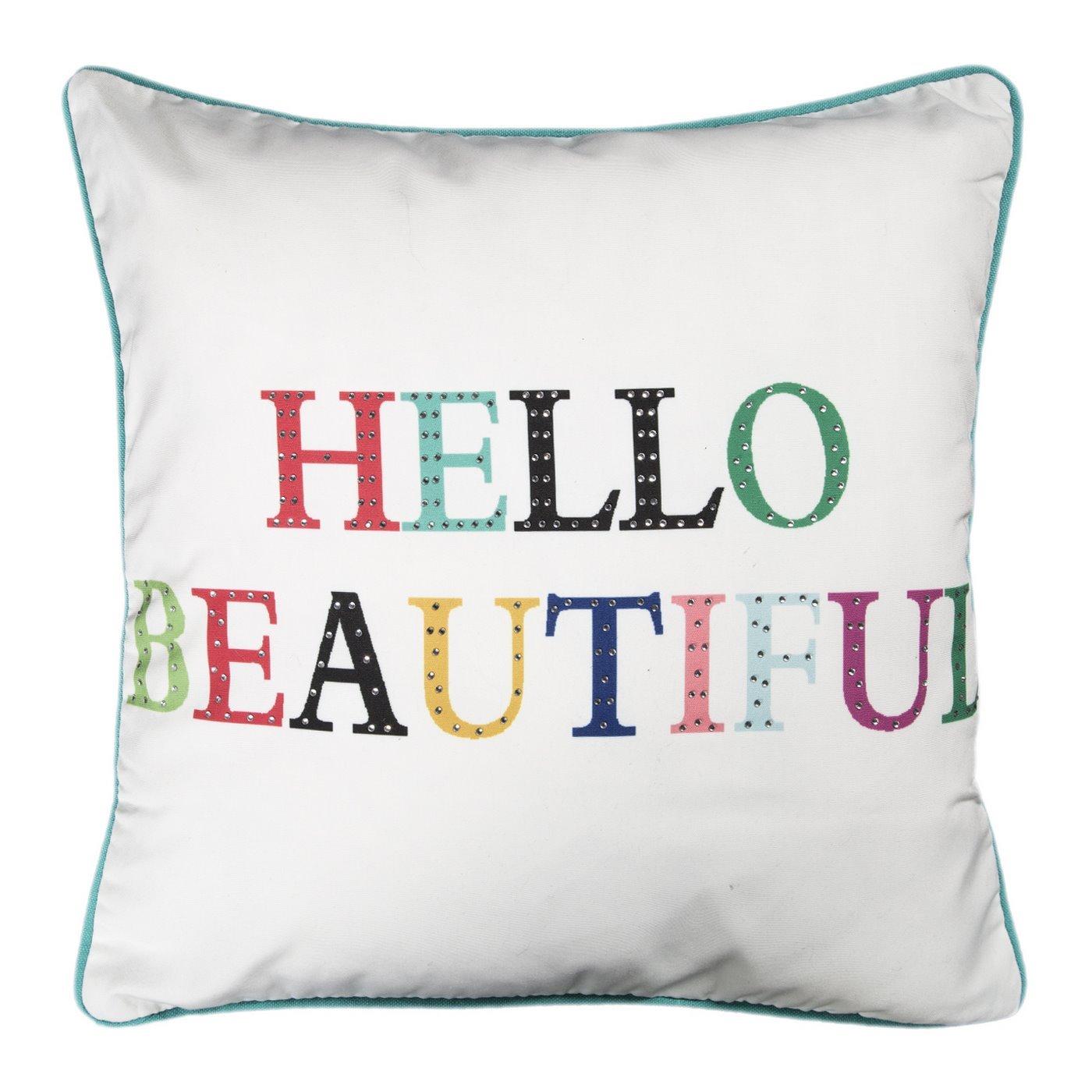 Poszewka dekoracyjna na poduszkę  45 x 45 Kolor Biały