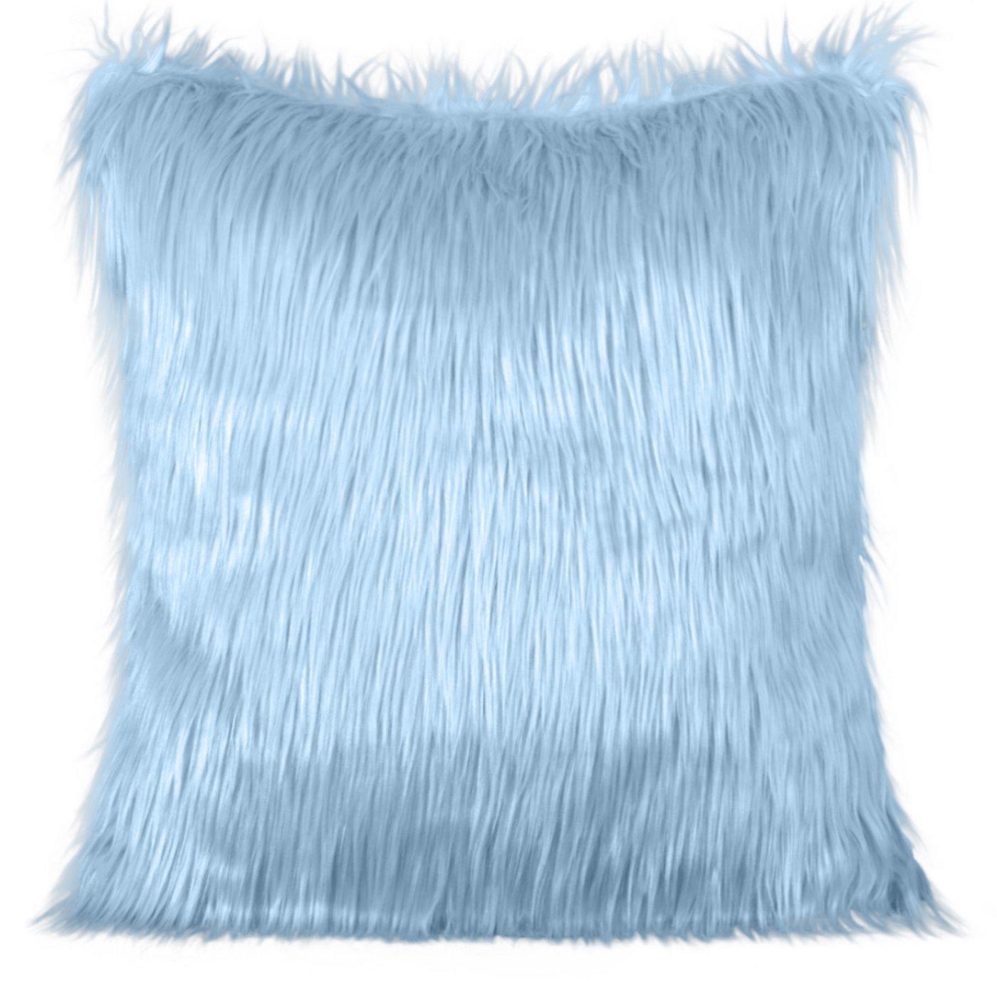 Poszewka na poduszkę futerko jasno niebieska 55 x 55 cm