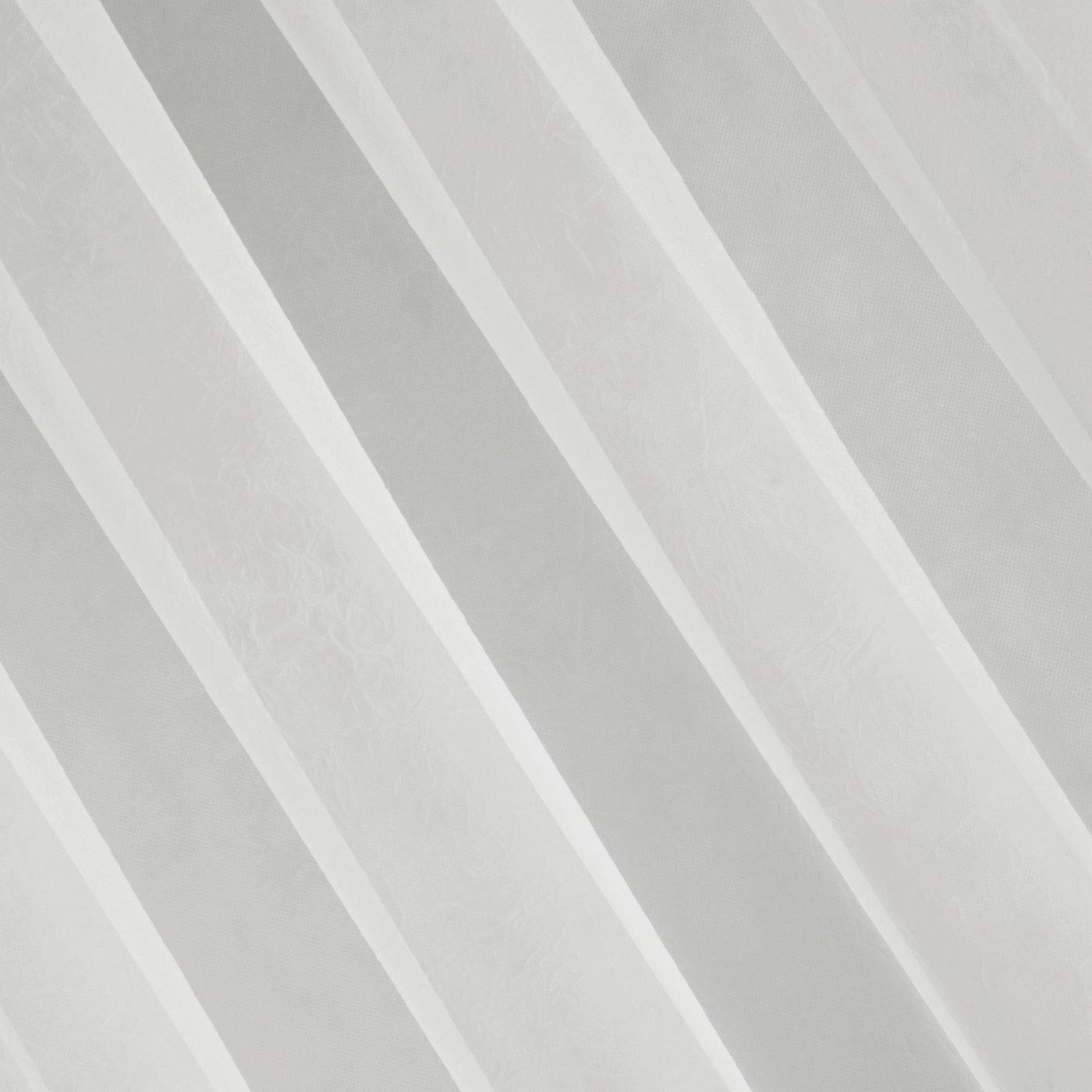 LUCY KREMOWA DELIKATNA FIRANA Z GŁADKIEGO WOALU 300x160 cm NA PRZELOTKACH
