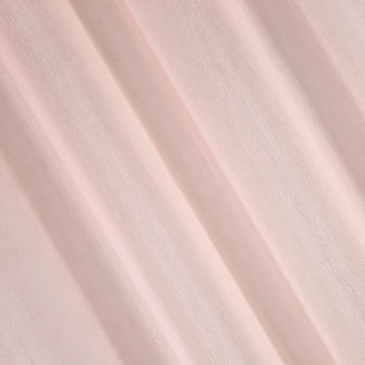 Firana gotowa gładka różowa na przelotkach 140x250cm