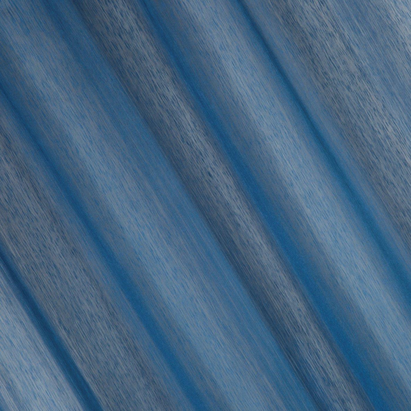 Firana gotowa gładka ciemnoniebieska na przelotkach 140x250cm