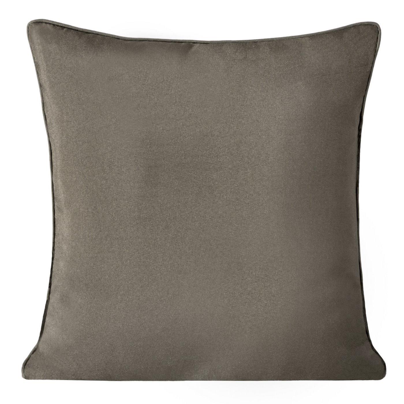 Poszewka na poduszkę gładka jasny brąz 40 x 40 cm