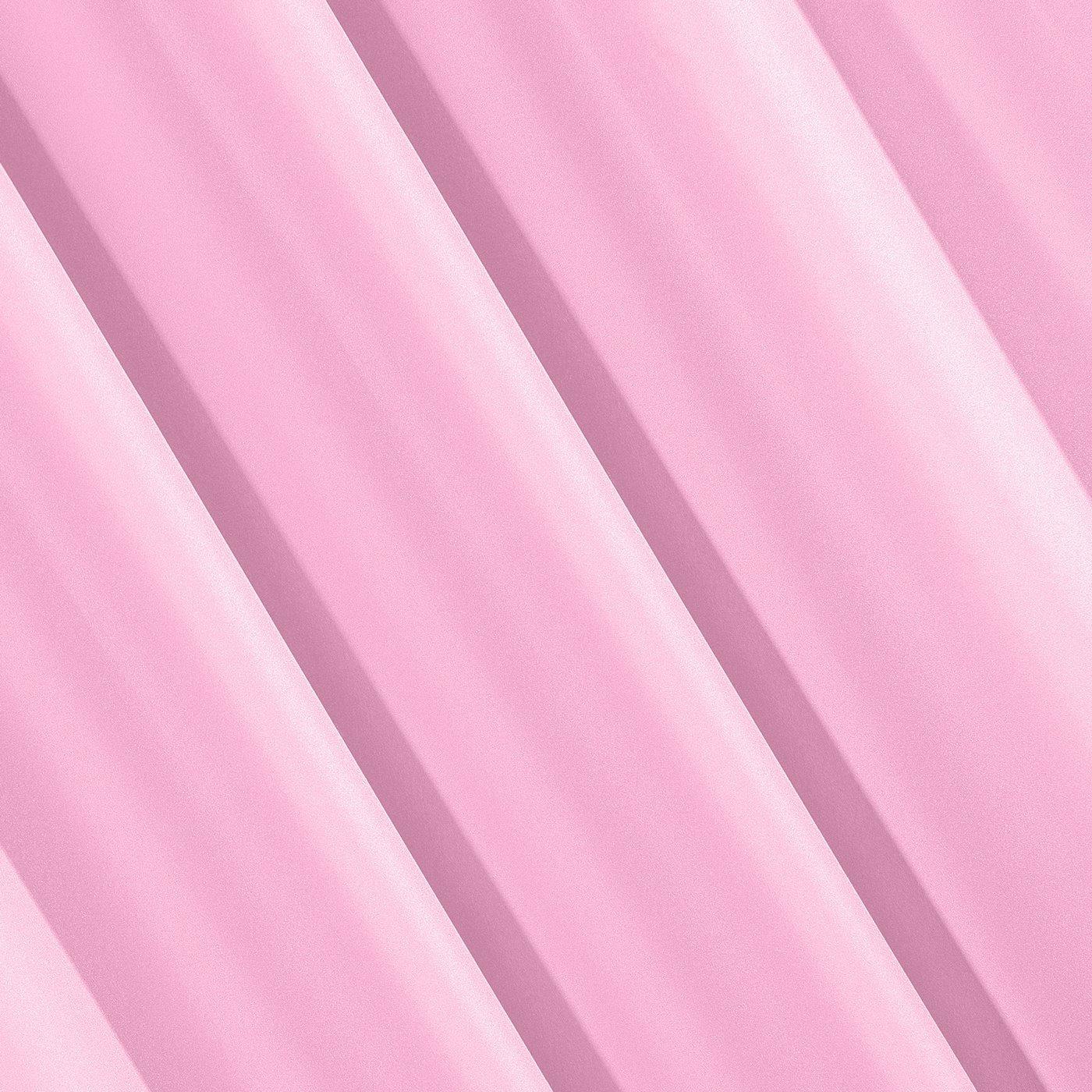 Zasłona gotowa różowa 140x250 cm przelotki