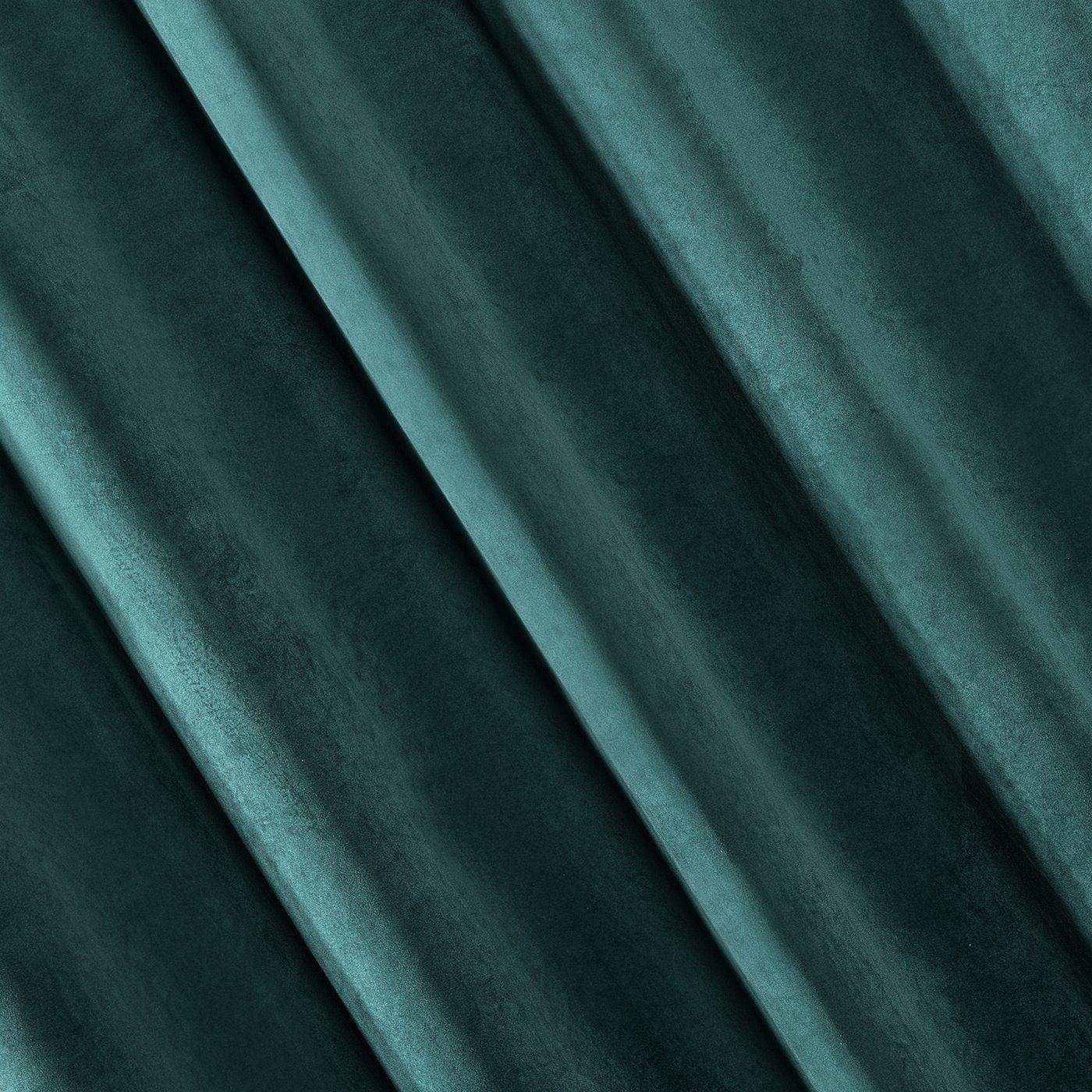 Zasłona welwetowa ciemnoturkusowa 140x250 - 10 przelotek
