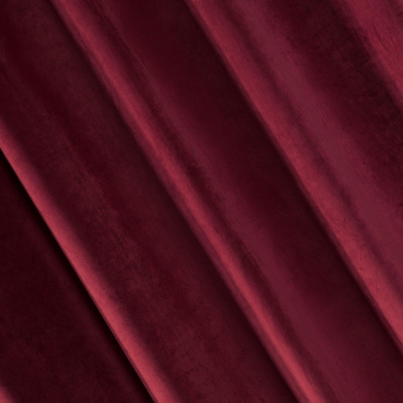 Zasłona welwetowa bordowa 140x250 cm - 10 przelotek