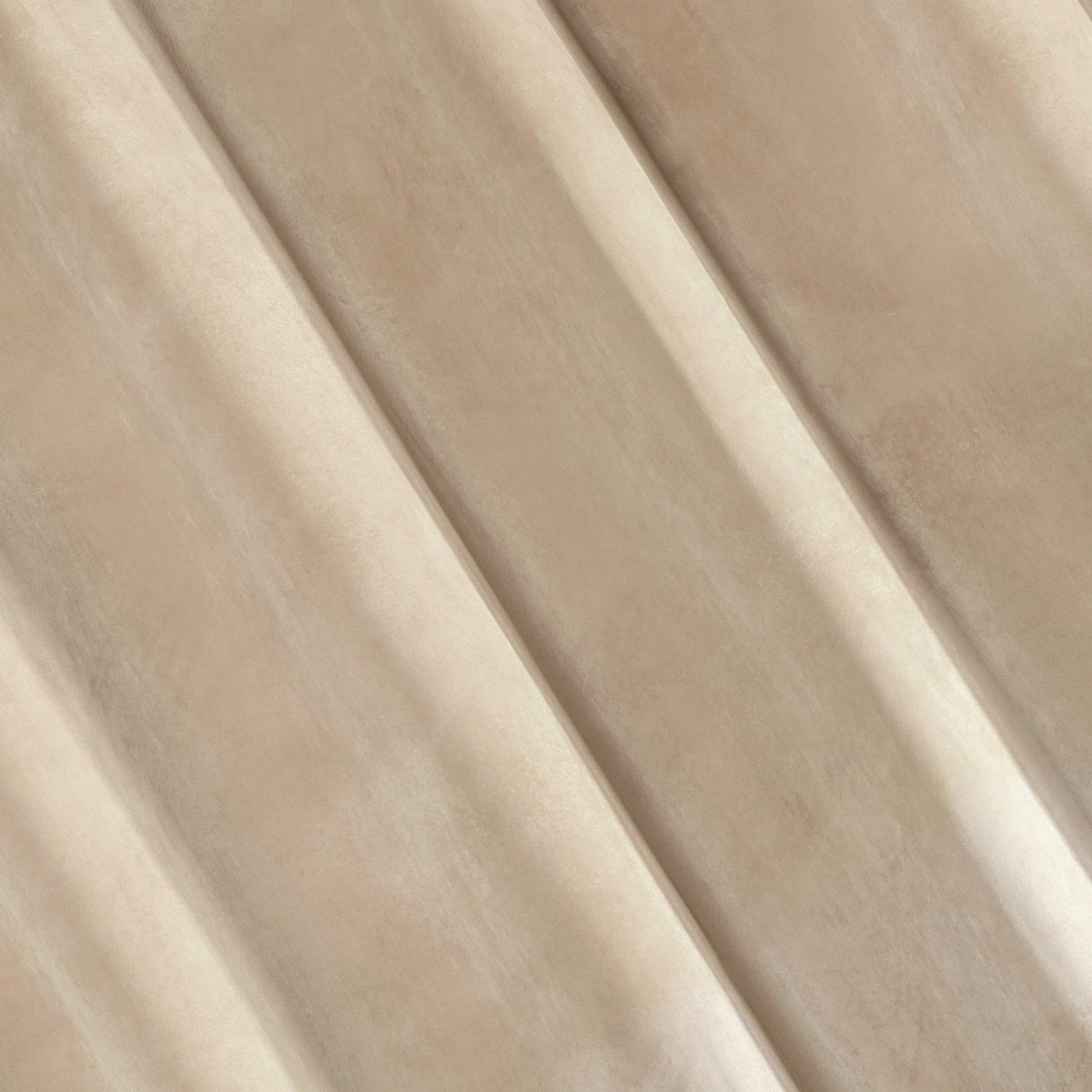 Zasłona welwetowa beżowa 140x250 10 przelotek