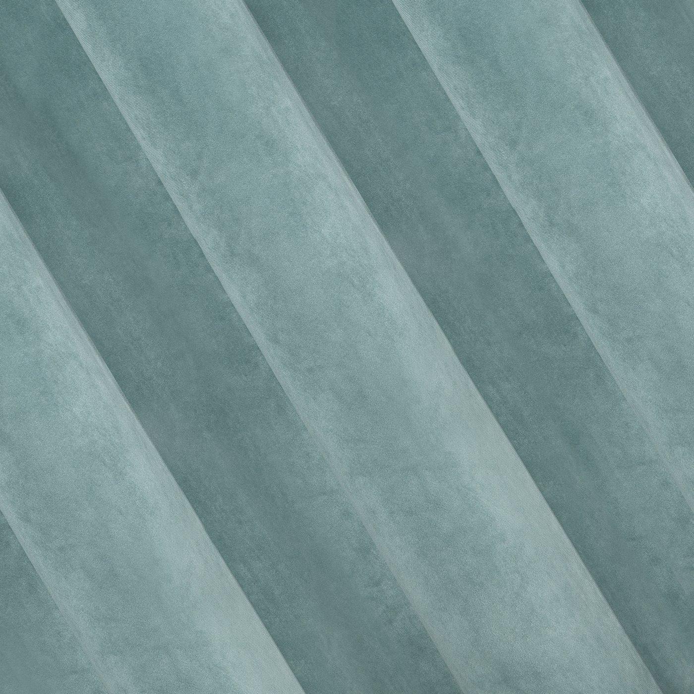 Zasłona welwetowa morska 140x250 10 przelotek