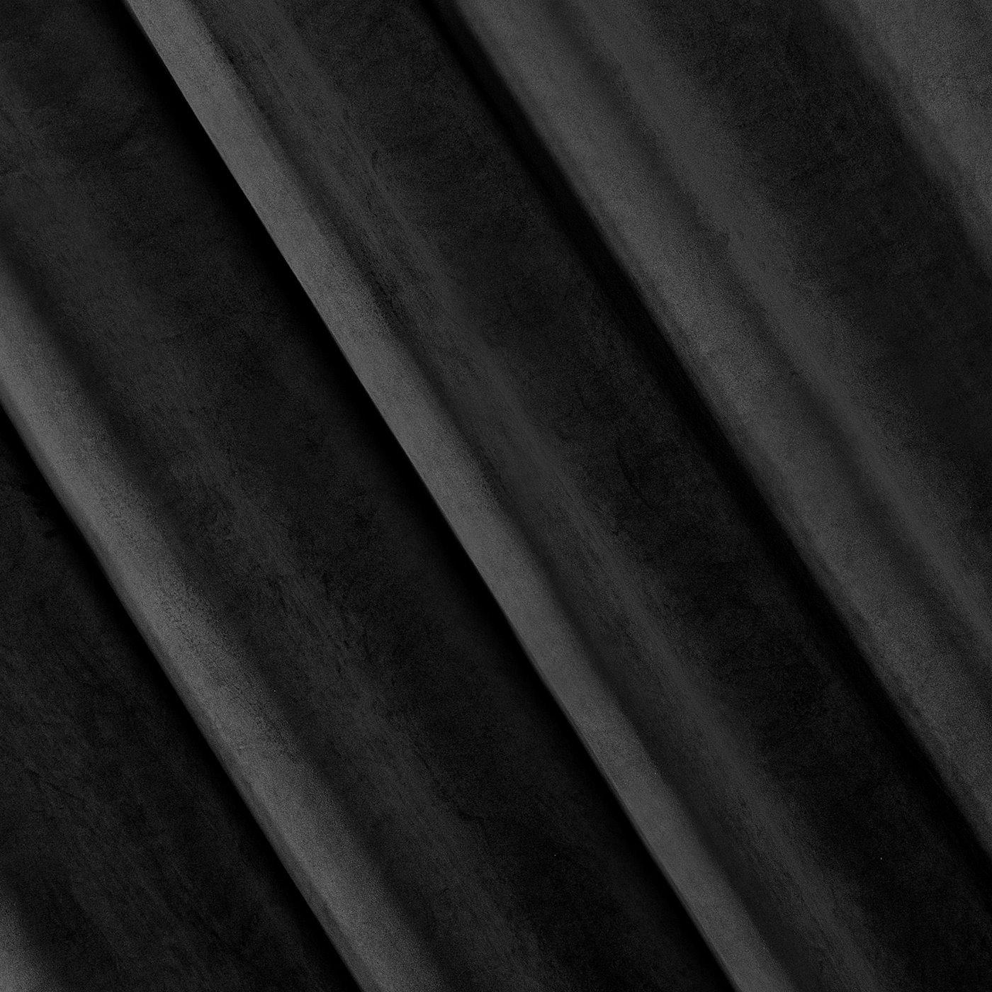 Zasłona welwetowa 140x270 cm na taśmie czarna