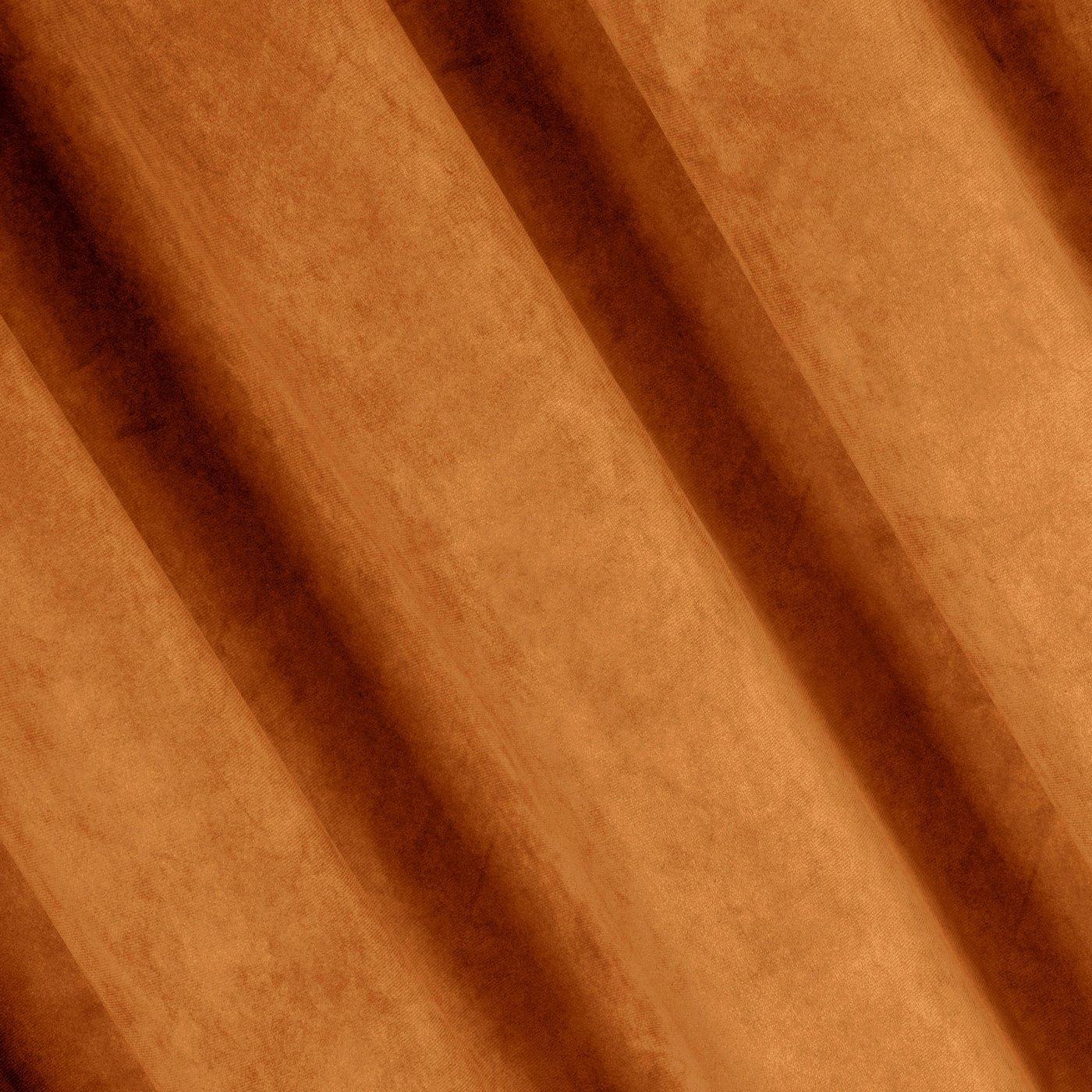 Zasłona welwetowa 140x270 cm na taśmie ruda