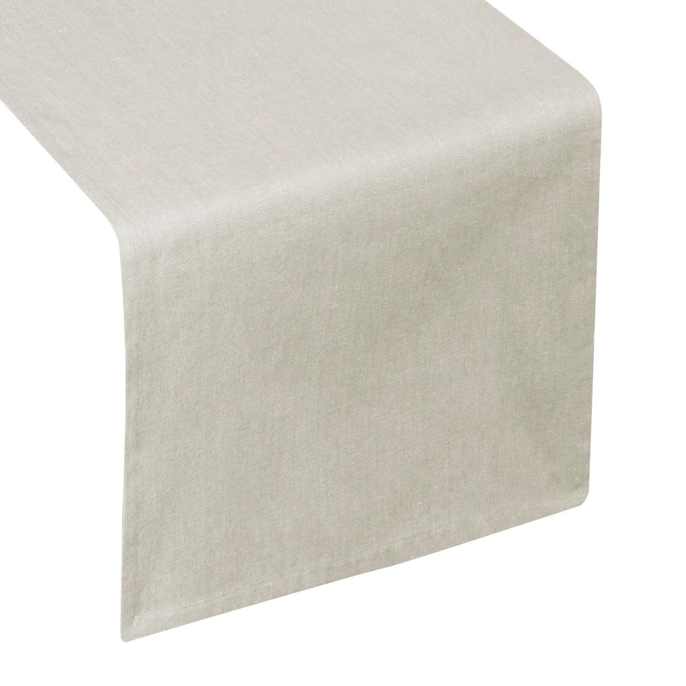 Bawełniany bieżnik do jadalni beżowy gładki 40x140 cm