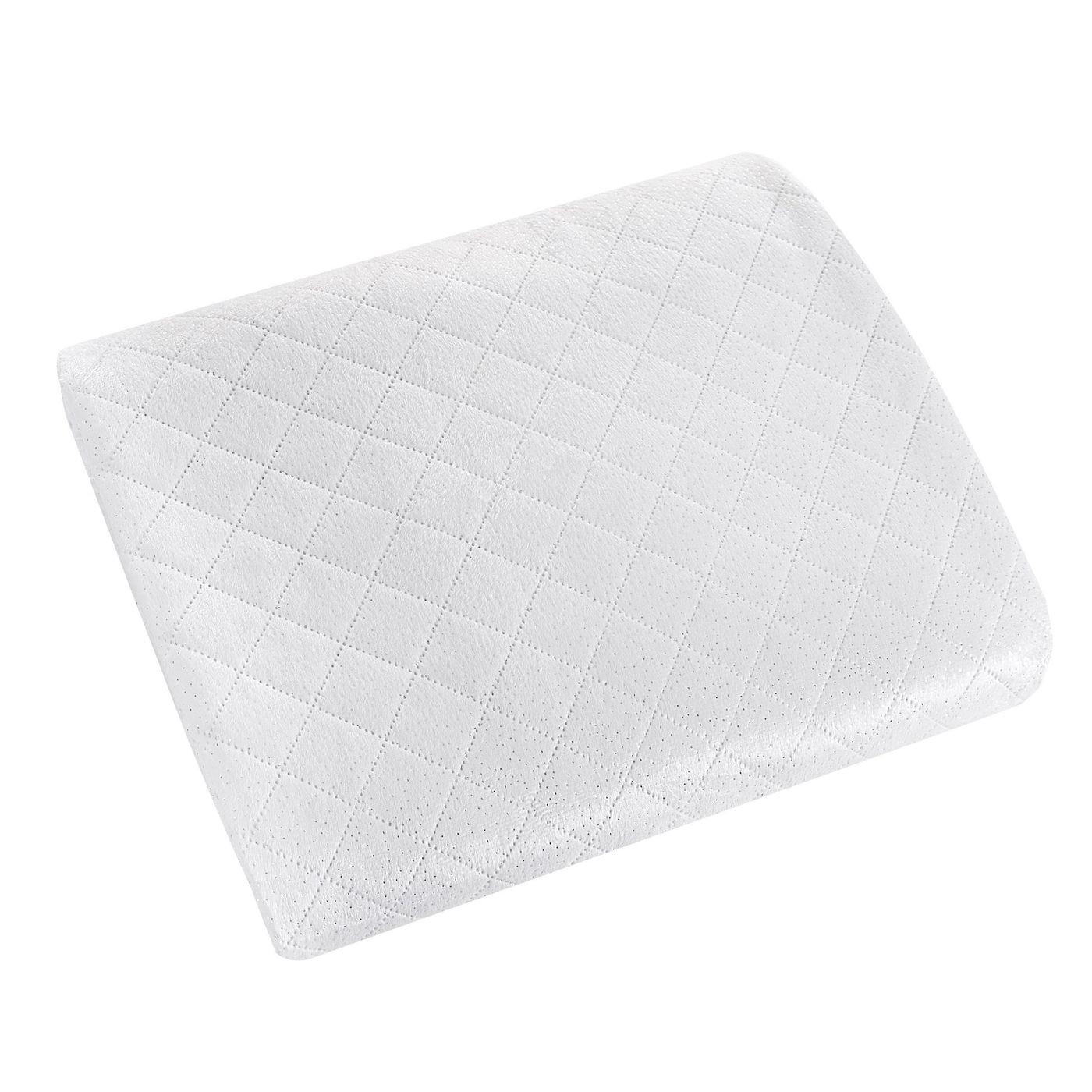 Narzuta na łóżko dwustronna welurowa 170x210 cm biało-srebrna