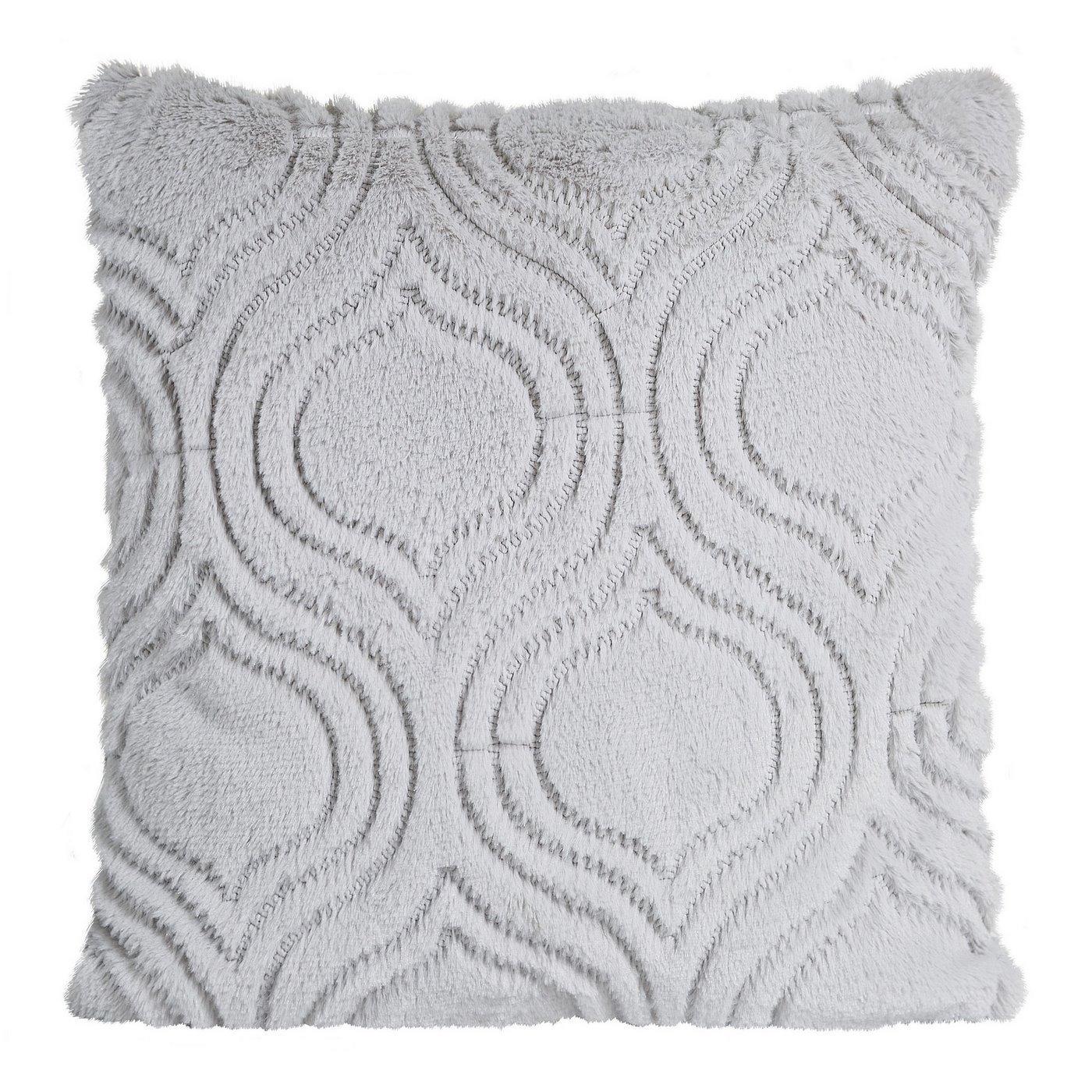 Poszewka na poduszkę 45 x 45 cm srebrna