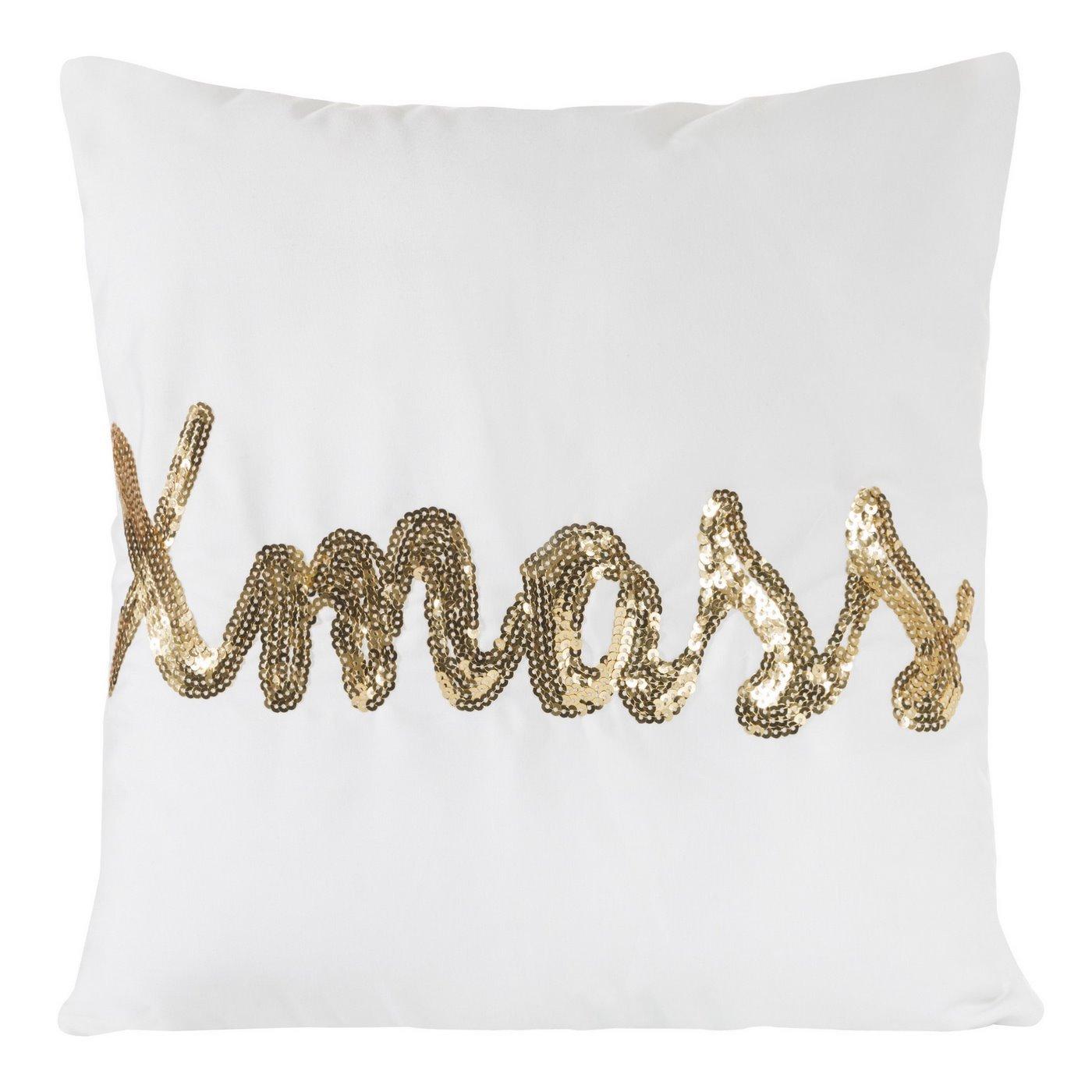 Poszewka na poduszkę 40 x 40 cm x mass biało złota