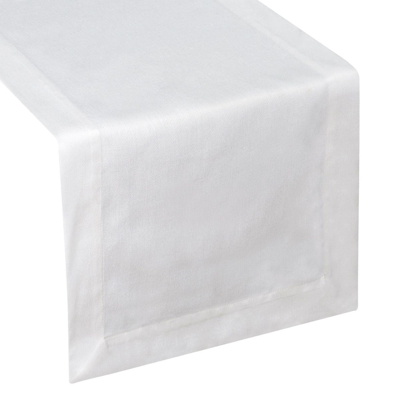 Biały obrus plamoodporny do jadalni 50x105 cm