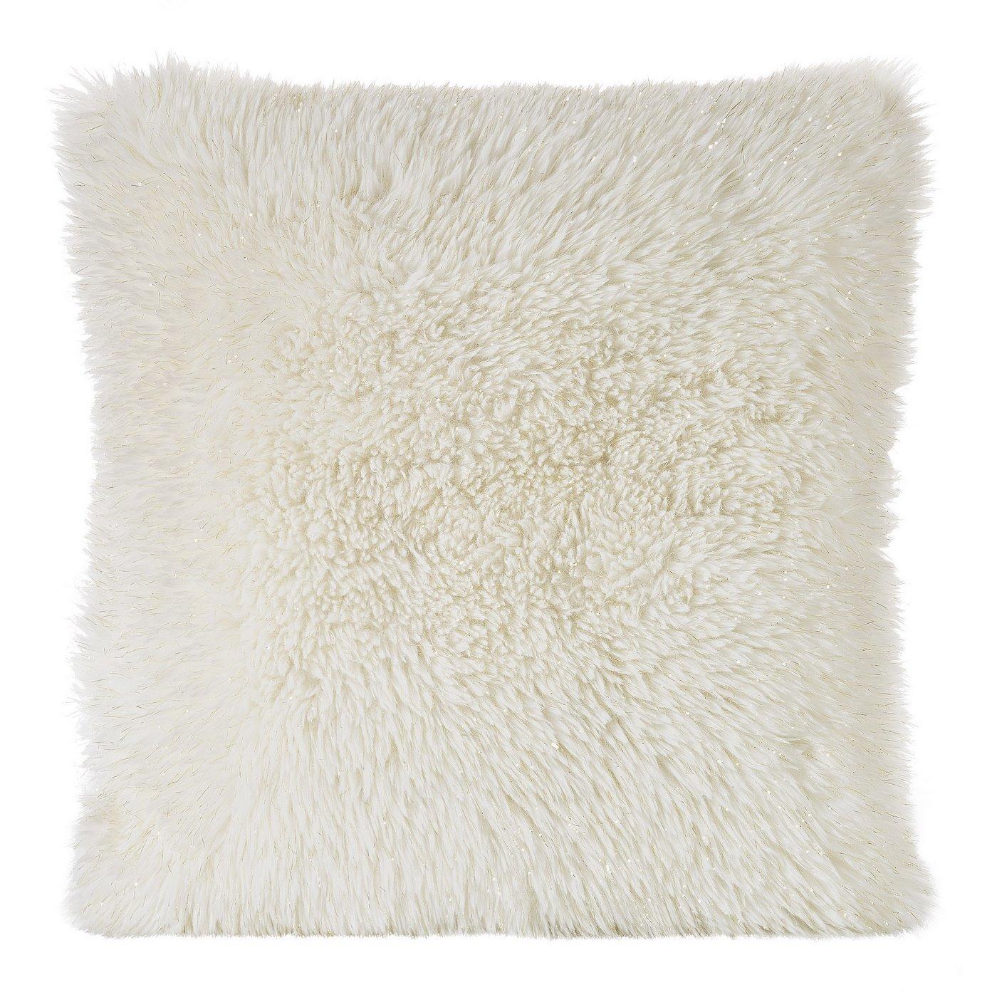 Poszewka dekoracyjna na poduszkę 45 x 45 kolor kremowy/złoty