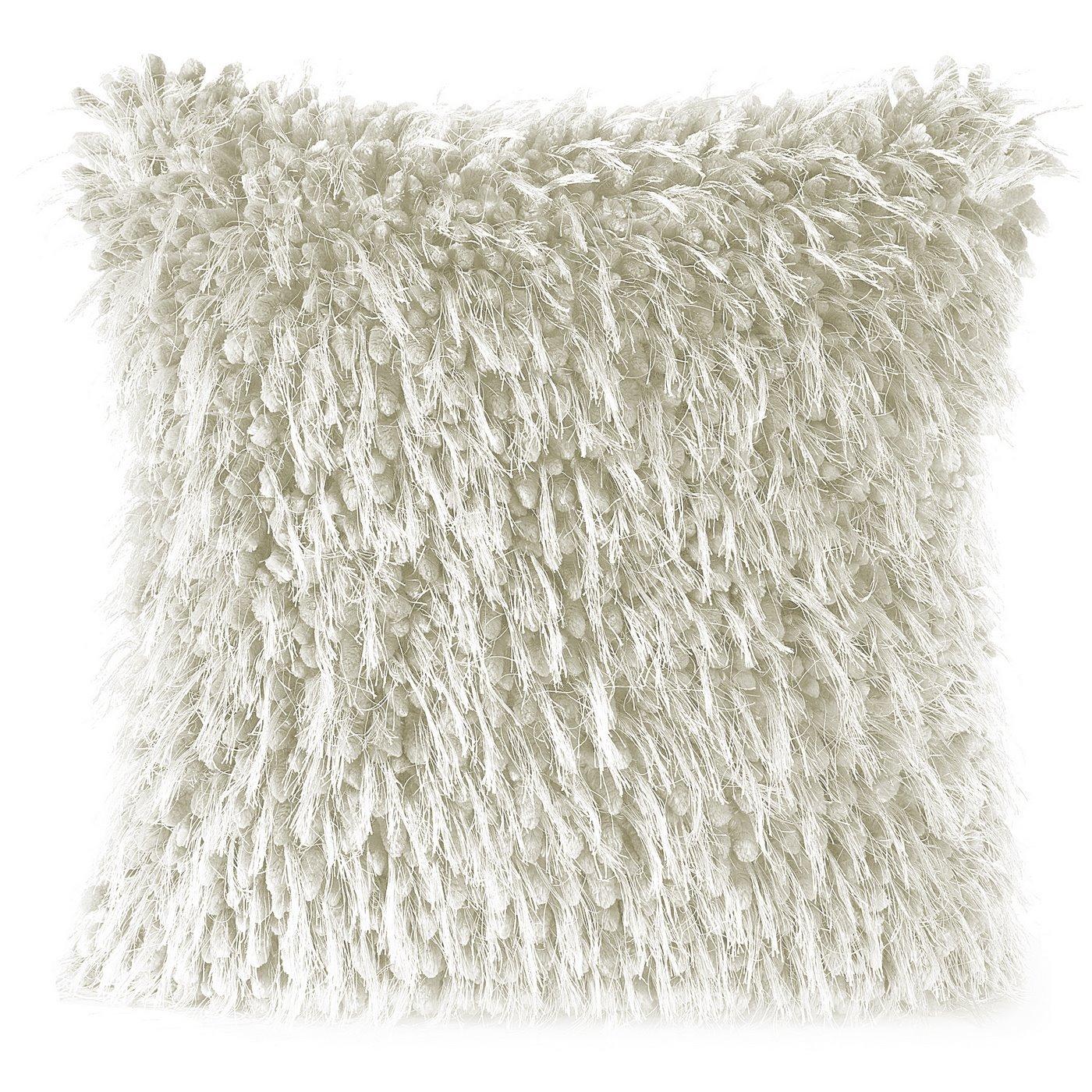 Poszewka na poduszkę 40 x 40 cm włochata kremowa